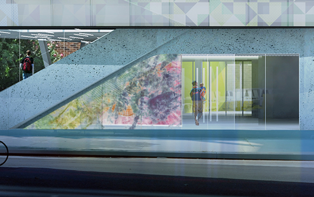 """""""Neighborhood Rubbing,"""" proposal for Westchester Square Library, Bronx, NY"""