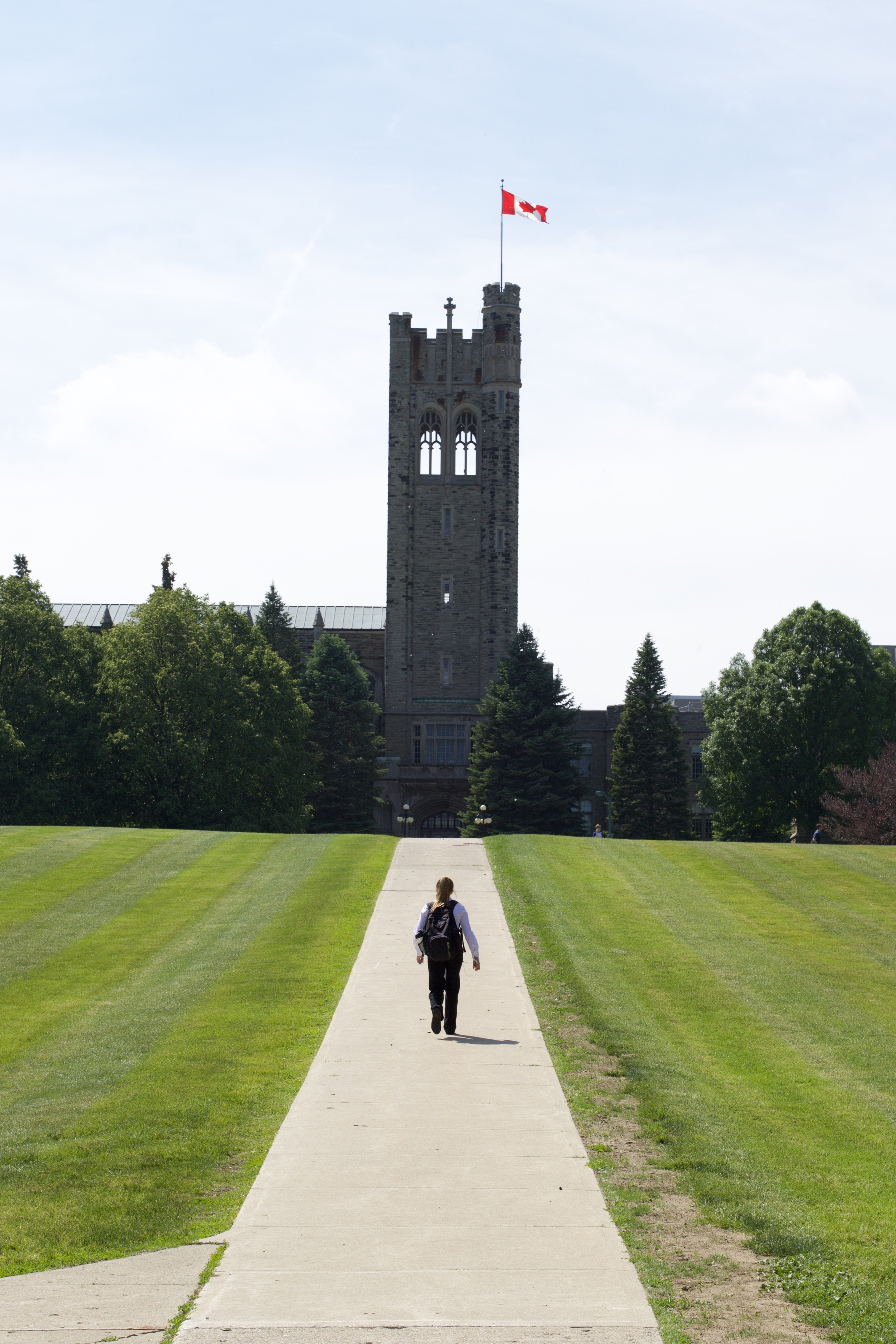 The iconic  Western University  tower, a the top of University College (UC) hill.