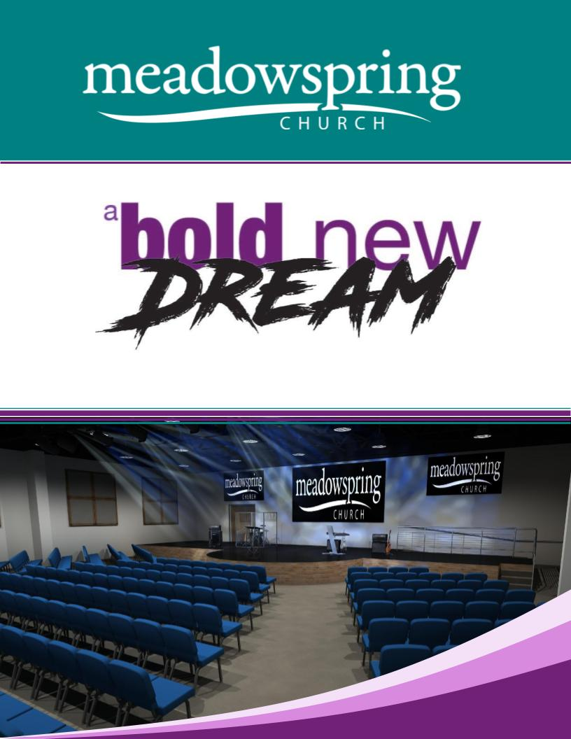 "To find out more, click the above image to see our "" A Bold New Dream "" brochure."