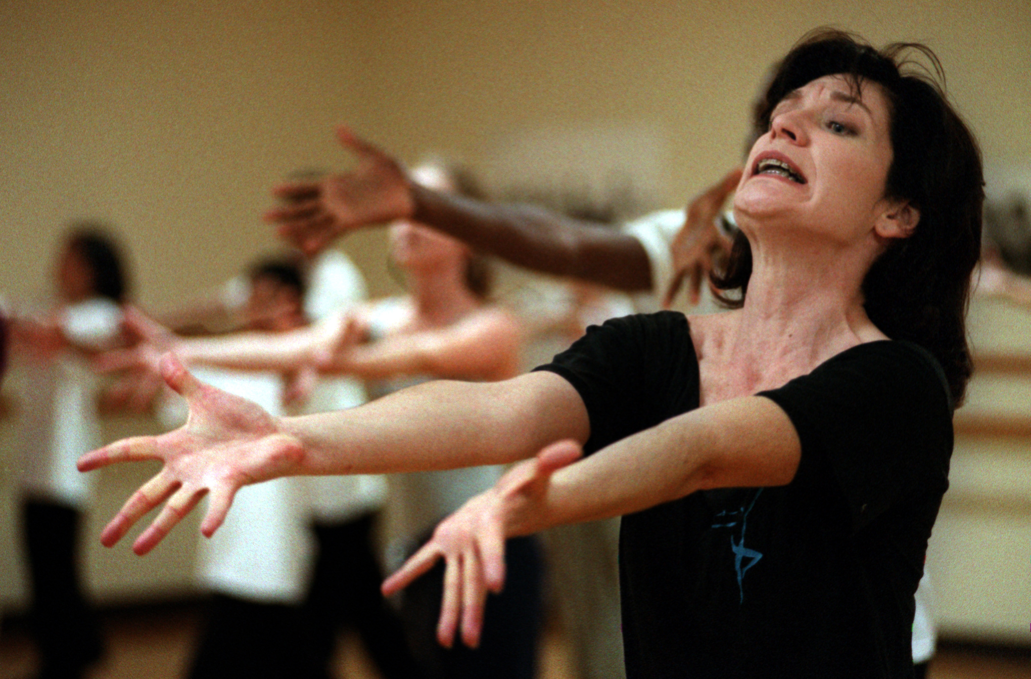 As the founder and guiding spirit of the Saint Joseph Ballet, Beth Burn's main job is to teach dance classes and run the organization which has served thousands of underprivileged children and teens. Burns' philosophy has never varied: The dance classes and performances help her students develop self-esteem, discipline and a sense of achievement, she says.  ©Gail Fisher Los Angeles Times