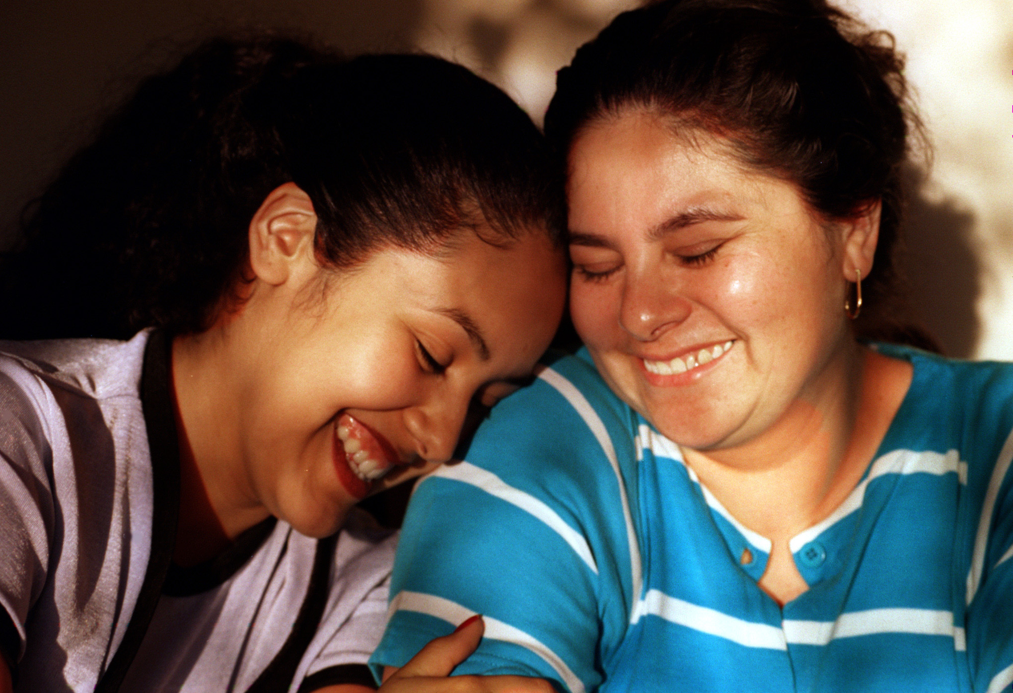 "Araceli with her mother, Lupe. ""She's my best friend,"" Araceli says of her mother.  ""She's incredible. A lot of my friends say they can't tell their moms anything, but she's so open, I can tell her anything. I tell her about guys, about my problems at the ballet, everything. I just love my mom.""  ©Gail Fisher Los Angeles Times"