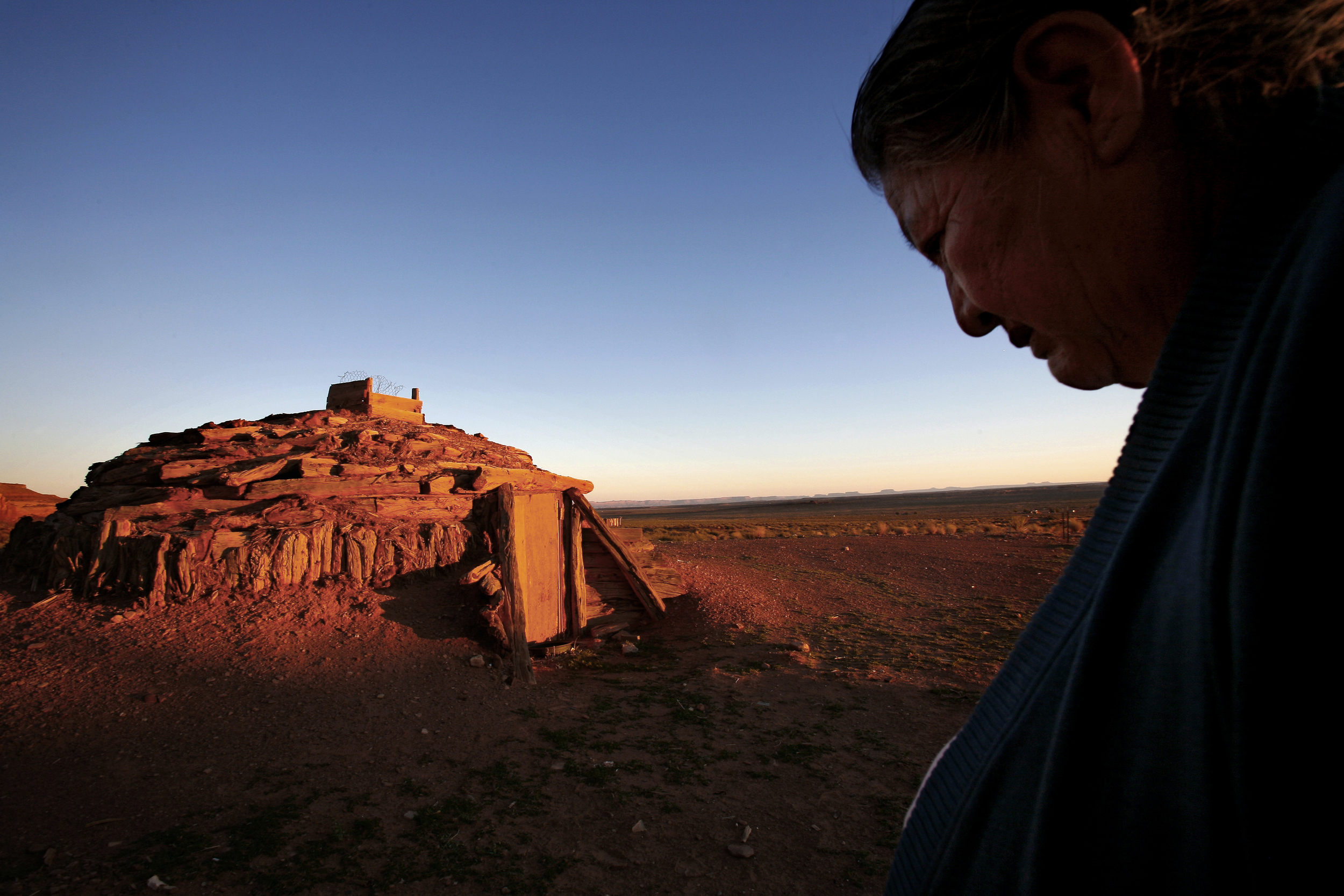 Elsie Begay believes a hogan that stood near this one caused her sons' deaths. Across the Navajo reservation, many hogans were built with uranium waste, the radioactive residue of the nuclear arms race. ©Gail Fisher Los Angeles Times