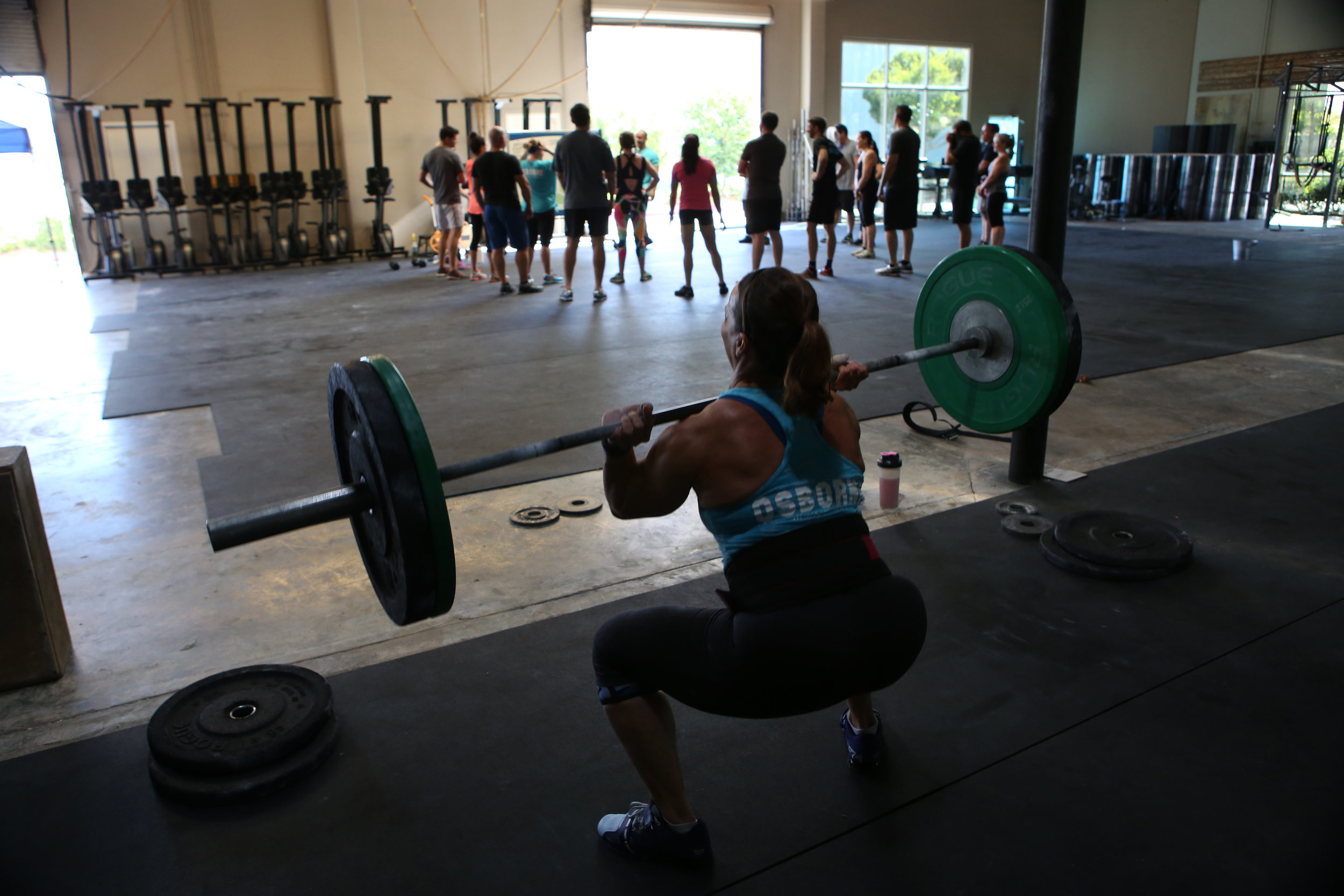 """In CrossFit, there's a lot of strong-man stuff. You lift heavy stuff. It's taxing, but it really focuses on stabilization and your core."" © Gail Fisher for ESPN"