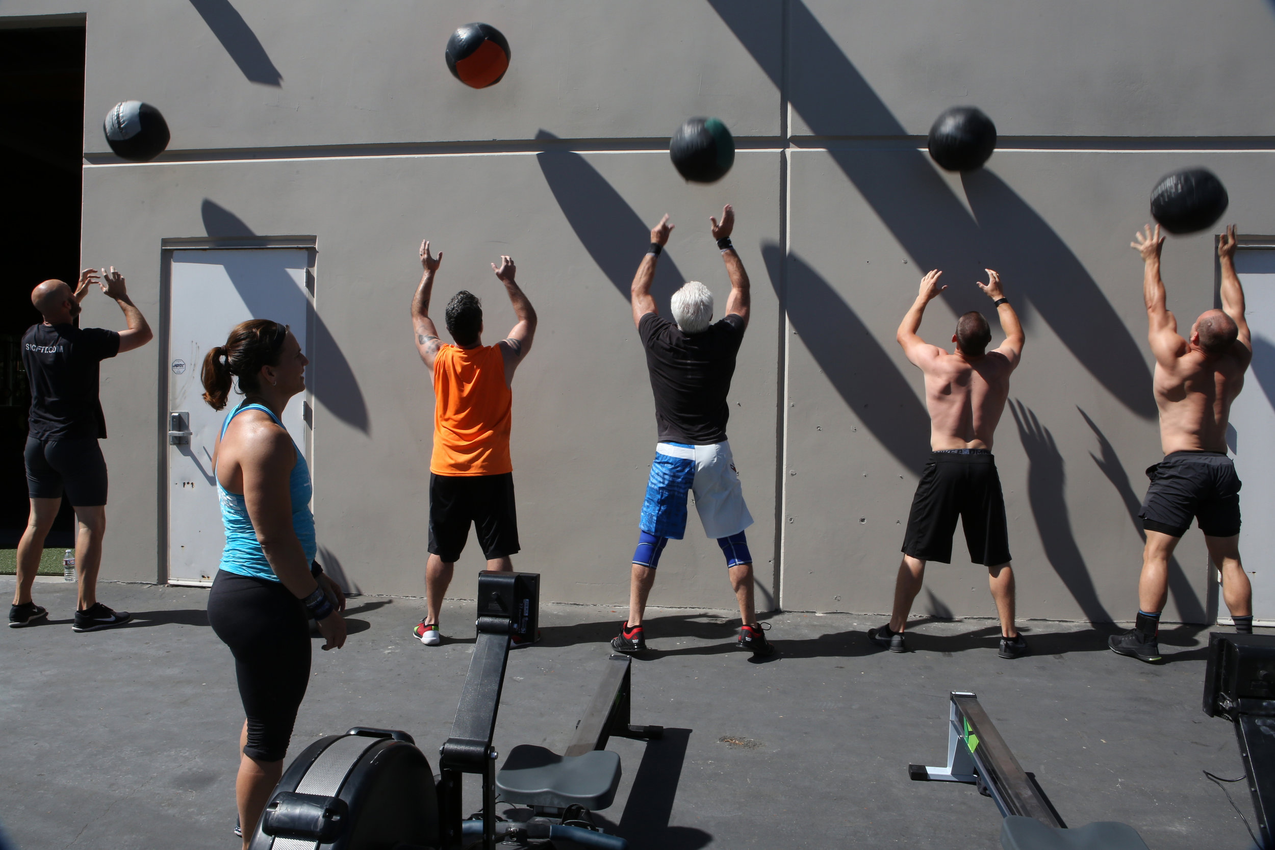 "The CrossFit Games are held outside of the StubHub Center in Carson, California, in the hot Southern California sun. Osborne has been training outside, but it still makes her a bit nervous. ""It's an element you can't really predict."" © Gail Fisher for ESPN"