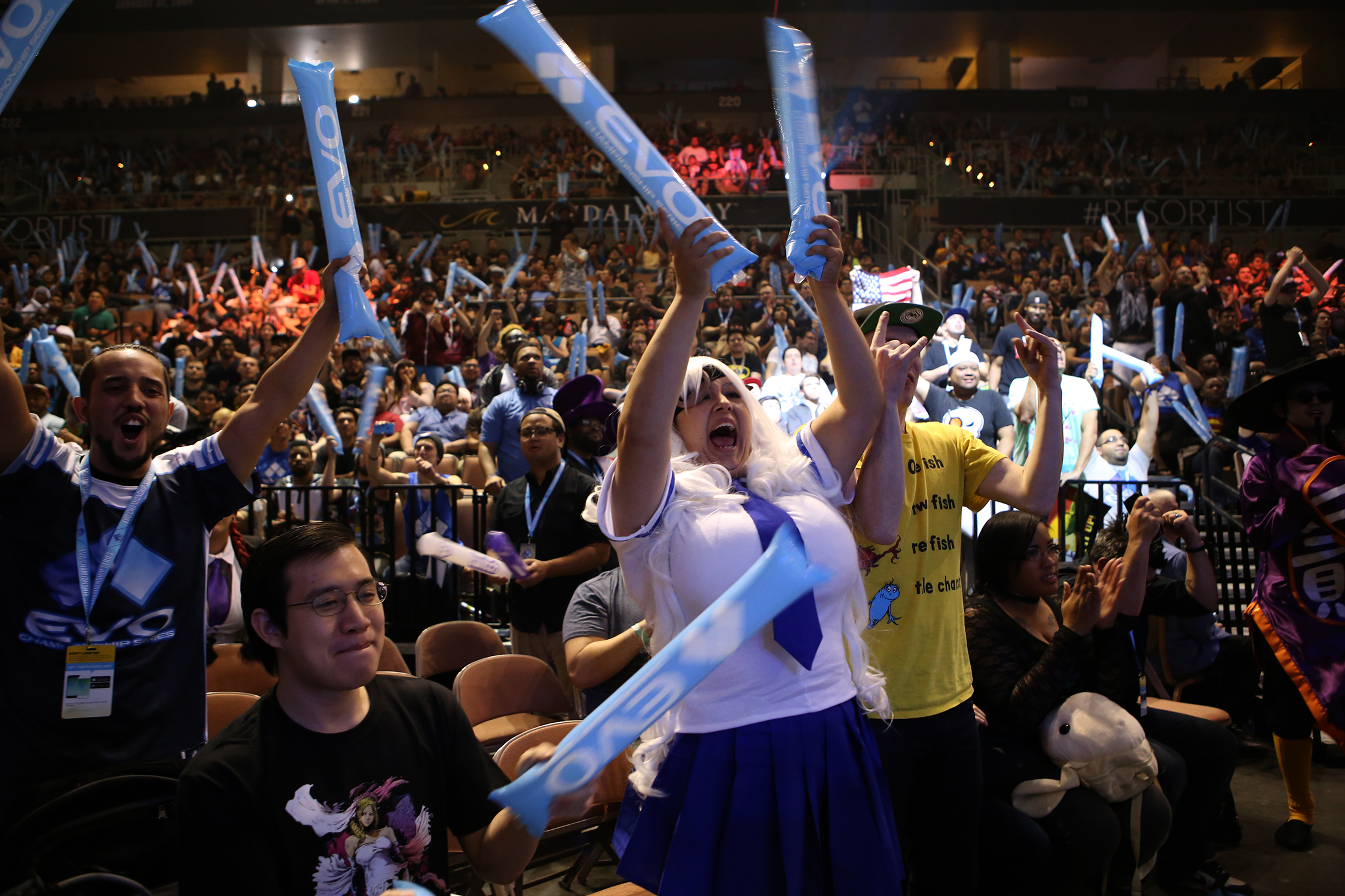 Crowds cheered their favorite players during the Evolution Championship Series. © Gail Fisher for ESPN