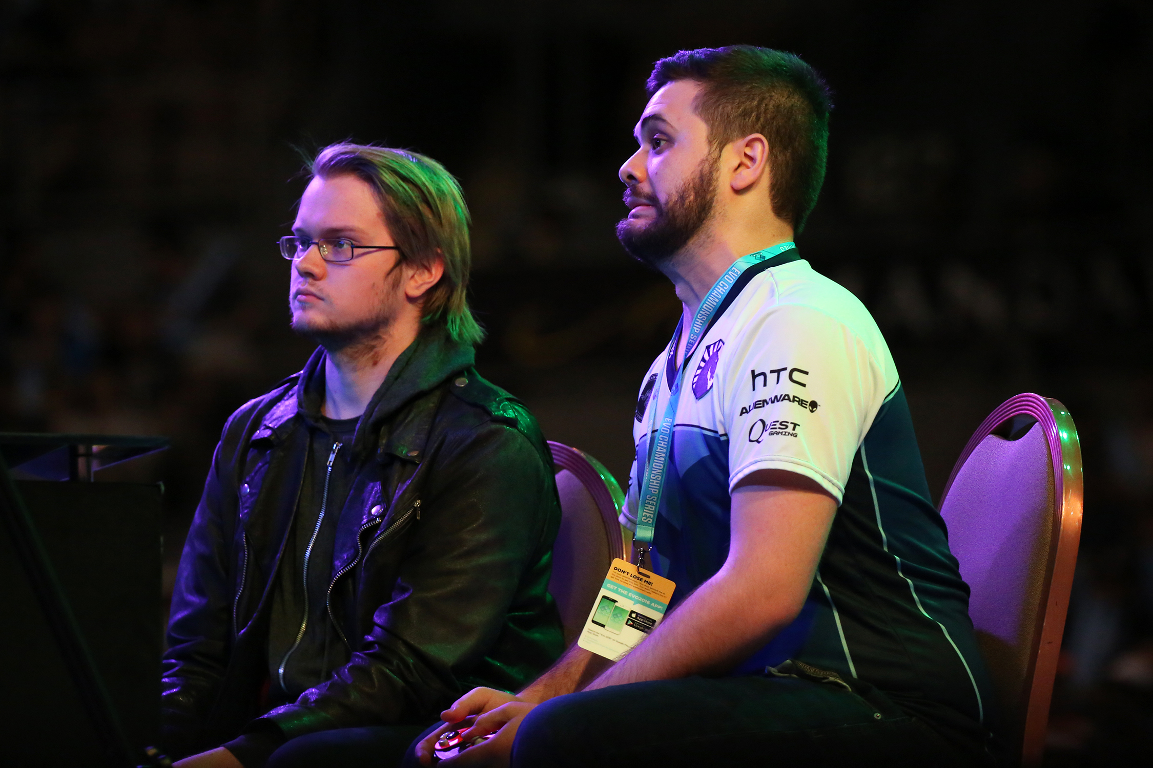 "Juan ""Hunbgrybox"" Debiedma reacts as he works to reset the brackets in his Super Smash Bros. Melee grand finals matchup against Adam ""Armada"" Lindgren. © Gail Fisher for ESPN"