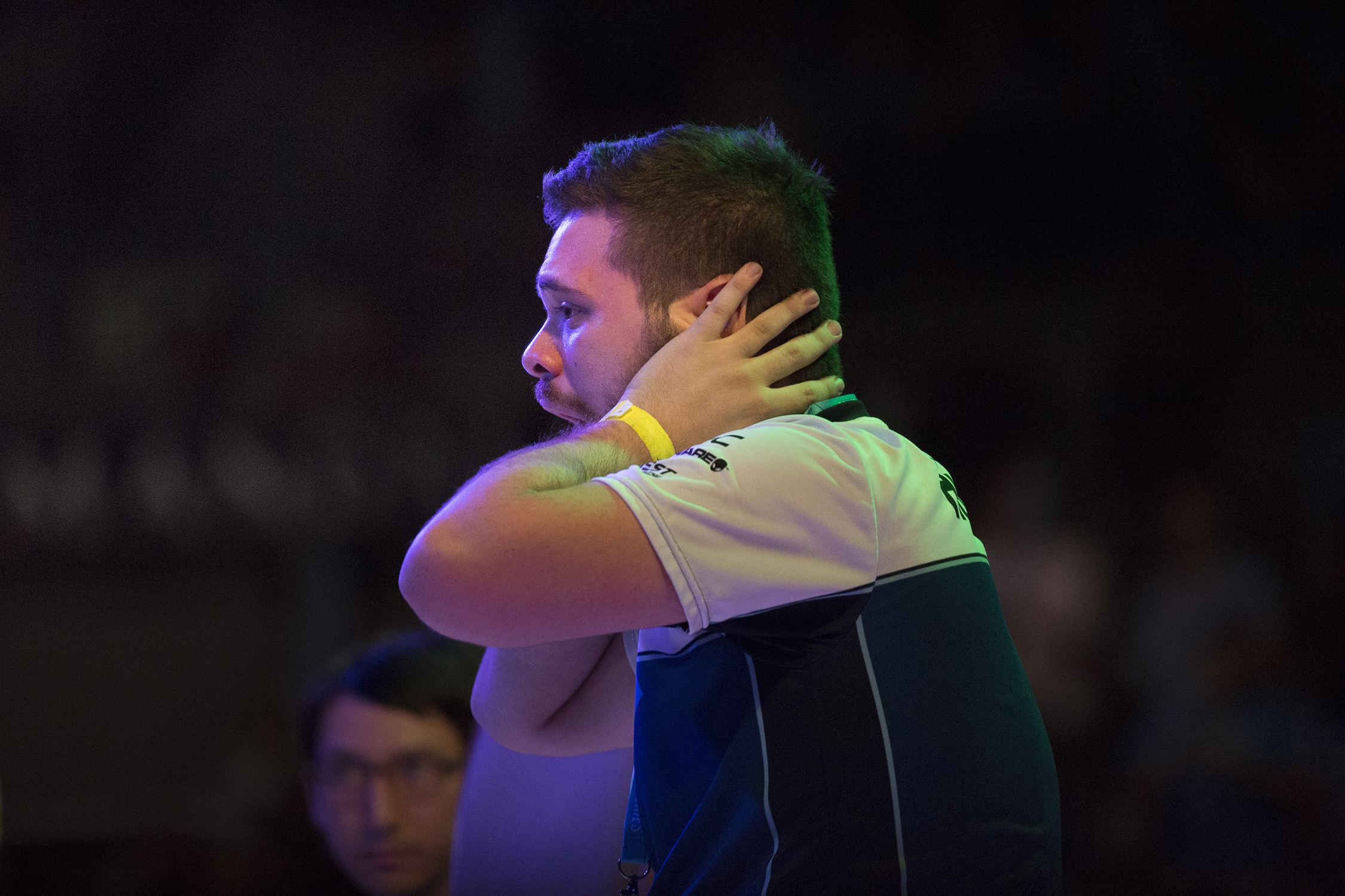 "An emotional evening for the new world champion, Juan ""Hungrybox"" Debiedma, after winning the Smash Bros. Melee at the EVO Championship Series 2016 in Las Vegas, Nevada. © Gail Fisher for ESPN"
