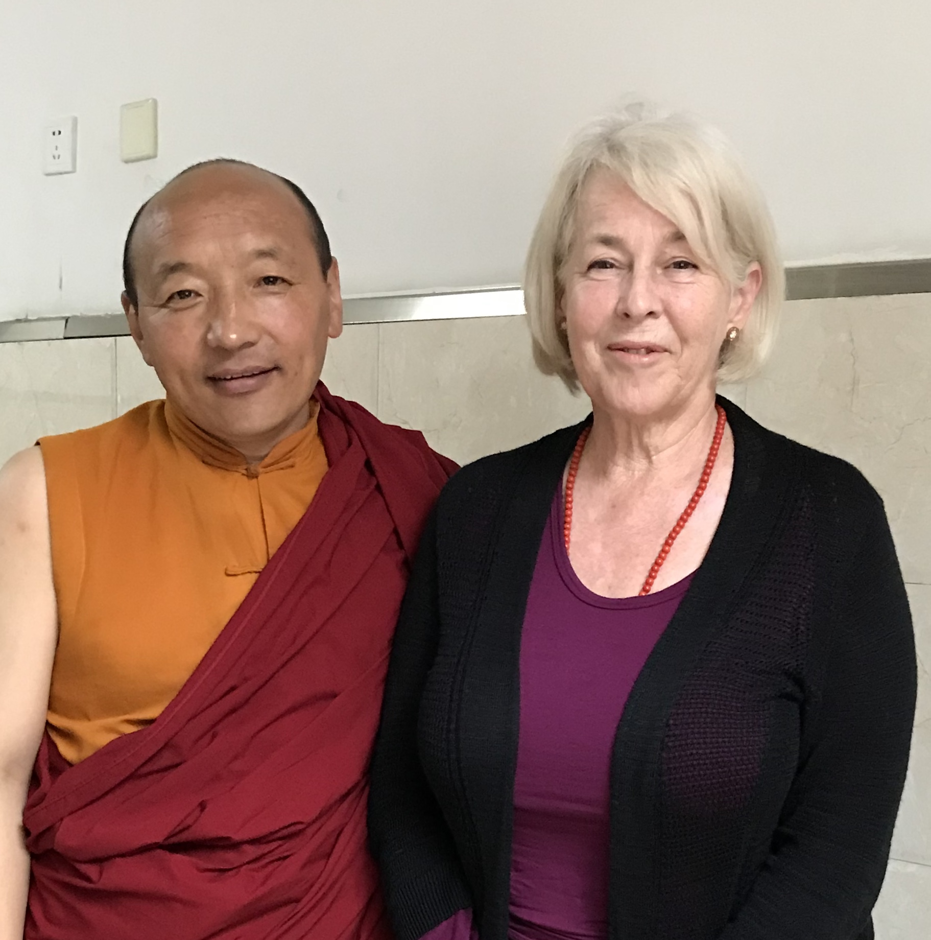 With the monk Rinchen in Barkham, 2018