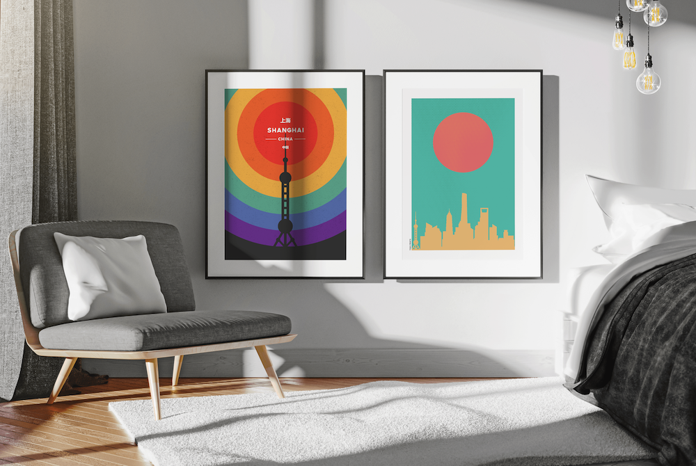 Elevate Your Space - If you've visited or lived in Shanghai, chances are this incredible city has made a big impression on you. Well, you're not alone and we want to make sure you remember the city in the best way possible - on a modern and original piece of artwork designed right here in Shanghai. Now you can hang a piece of Shanghai in your home whether still in the city or having moved back to your home country.