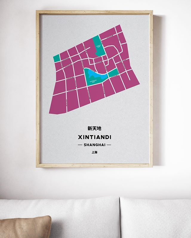Our XTD Print - Showcasing One of Shanghai's most popular areas - - - - #shanghai #shanghaimap #xintiandi #xintiandimap #tonikprints #shanghaidesign #shanghaigift #mapprint #graphicdesign #shanghaidecoration #homedecor #designchina #graphicdesign #formerfrenchconcession #xtd #shanghaiapartment