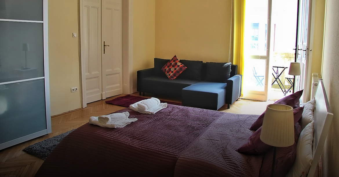 Stay in the Heart of Budapest   Located in the historic Palace Quarter in Central Budapest, Krudy Apartment is a great choice for travellers who are interested in monuments, museums or shopping. M2 Rákóczi tér and Blaha Lujza tér, also M3 Corvin Negyed and Kálvin tér subway stations are within a few minutes walking distance, just like trams 4 and 6 that connect Pest with Buda. All the main tourist attractions of the city can be reached within 20 minutes. You can get to Budapest Liszt Ferenc Airport in 20 minutes by car, Keleti railway station is also very close by subway.
