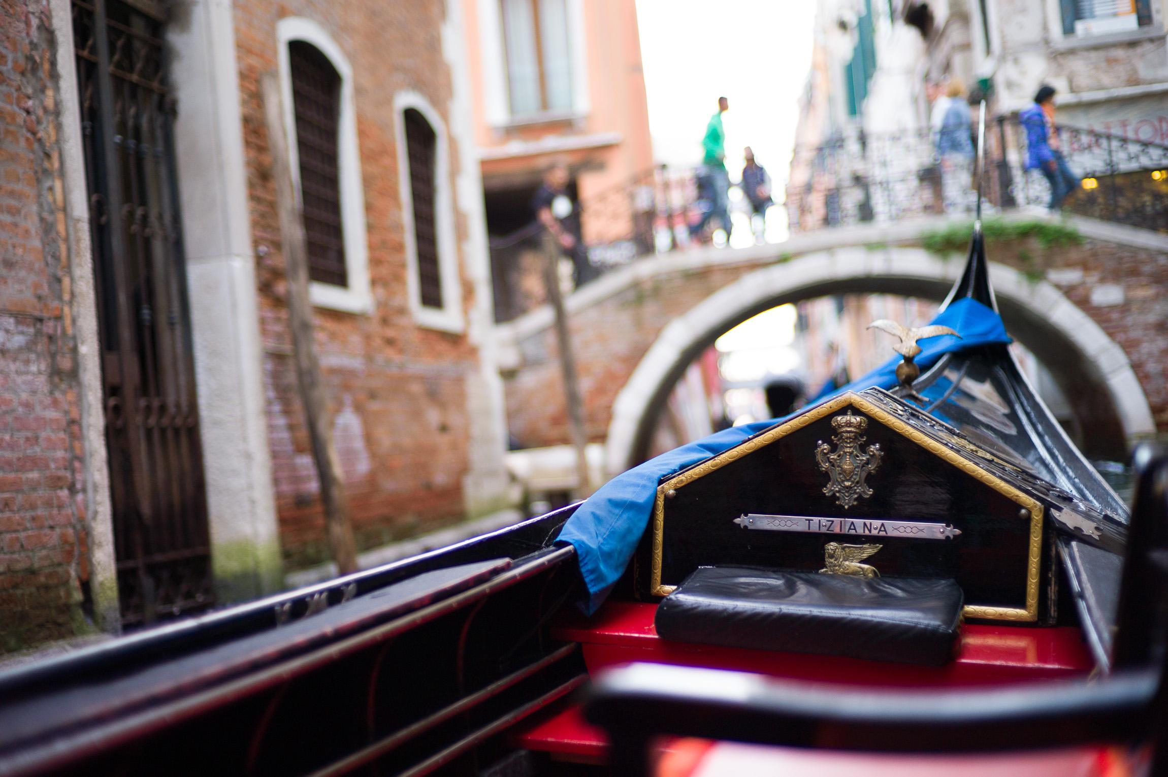 Our Gondola Ride, Venice, Italy