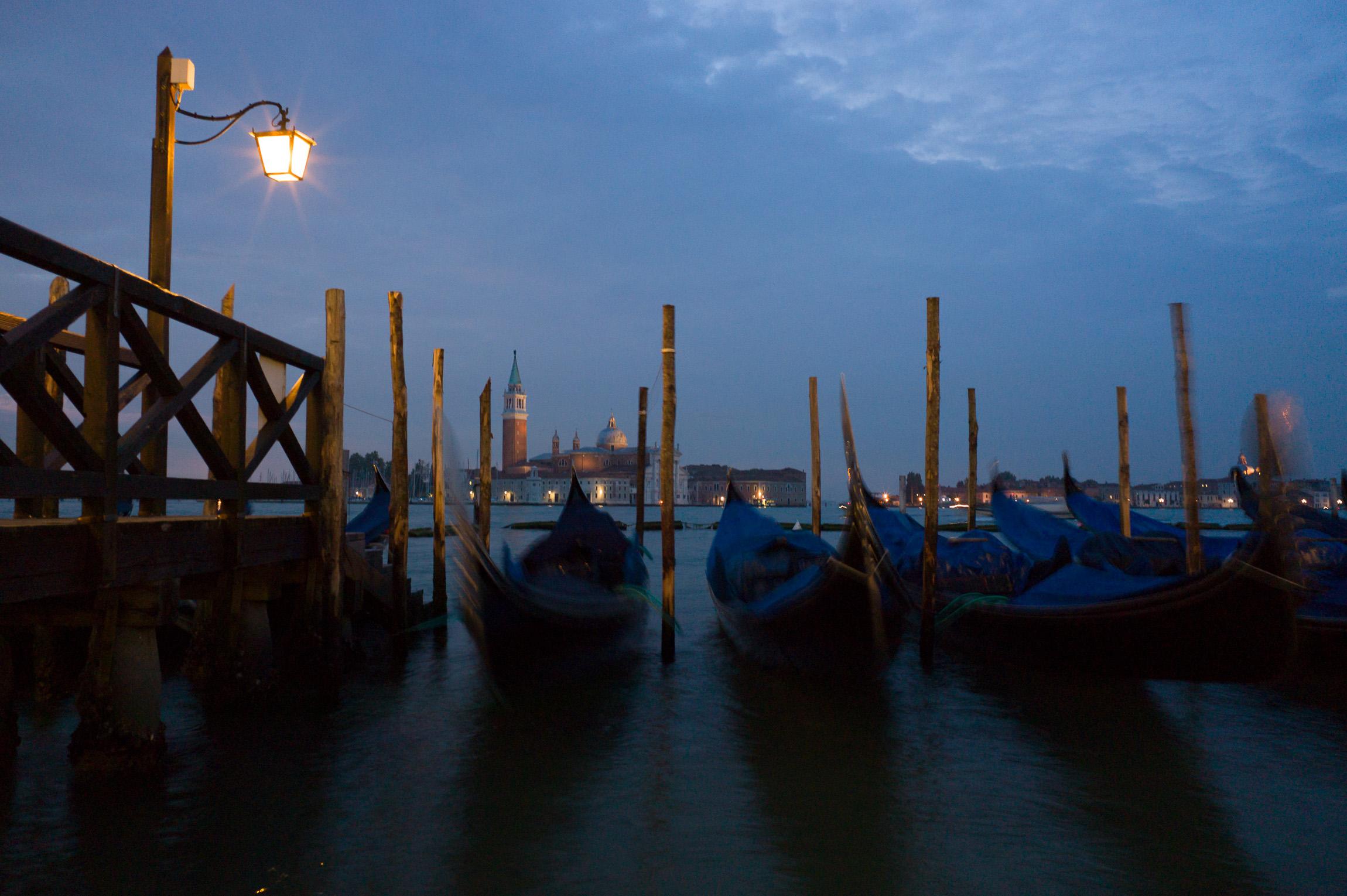 Stand-by Gondola, Venice, Italy
