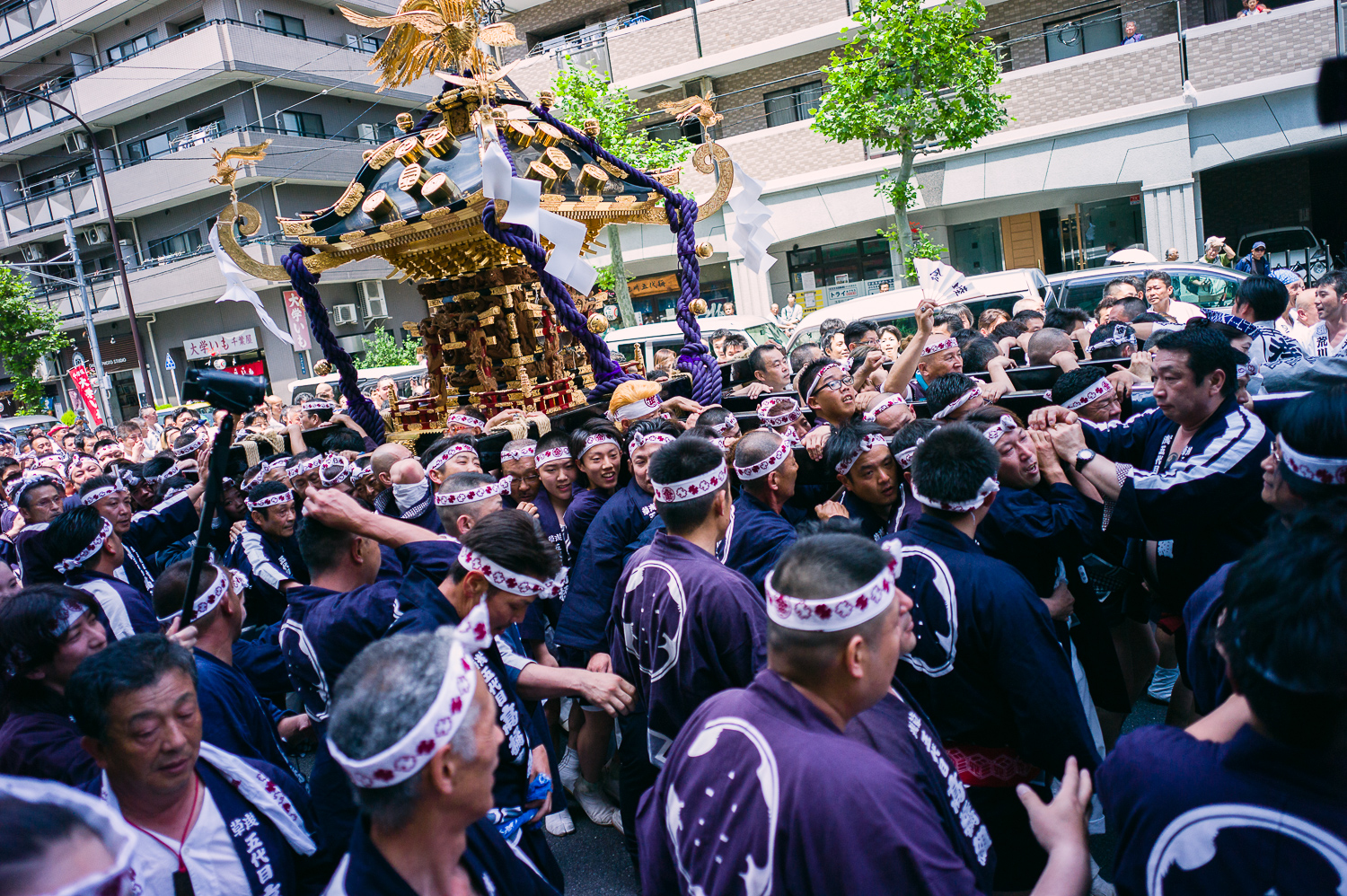 I have to admit this group had a really beautiful mikoshi and it is huge! See no. of people it took to carry.