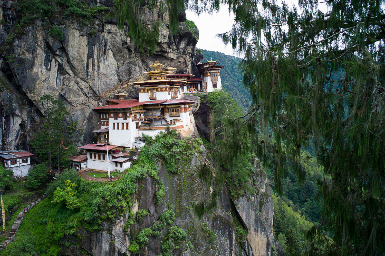 Paro Taktsang AKA Tiger's Nest, very unique monastery located in the valley, took us few hours to hike up there