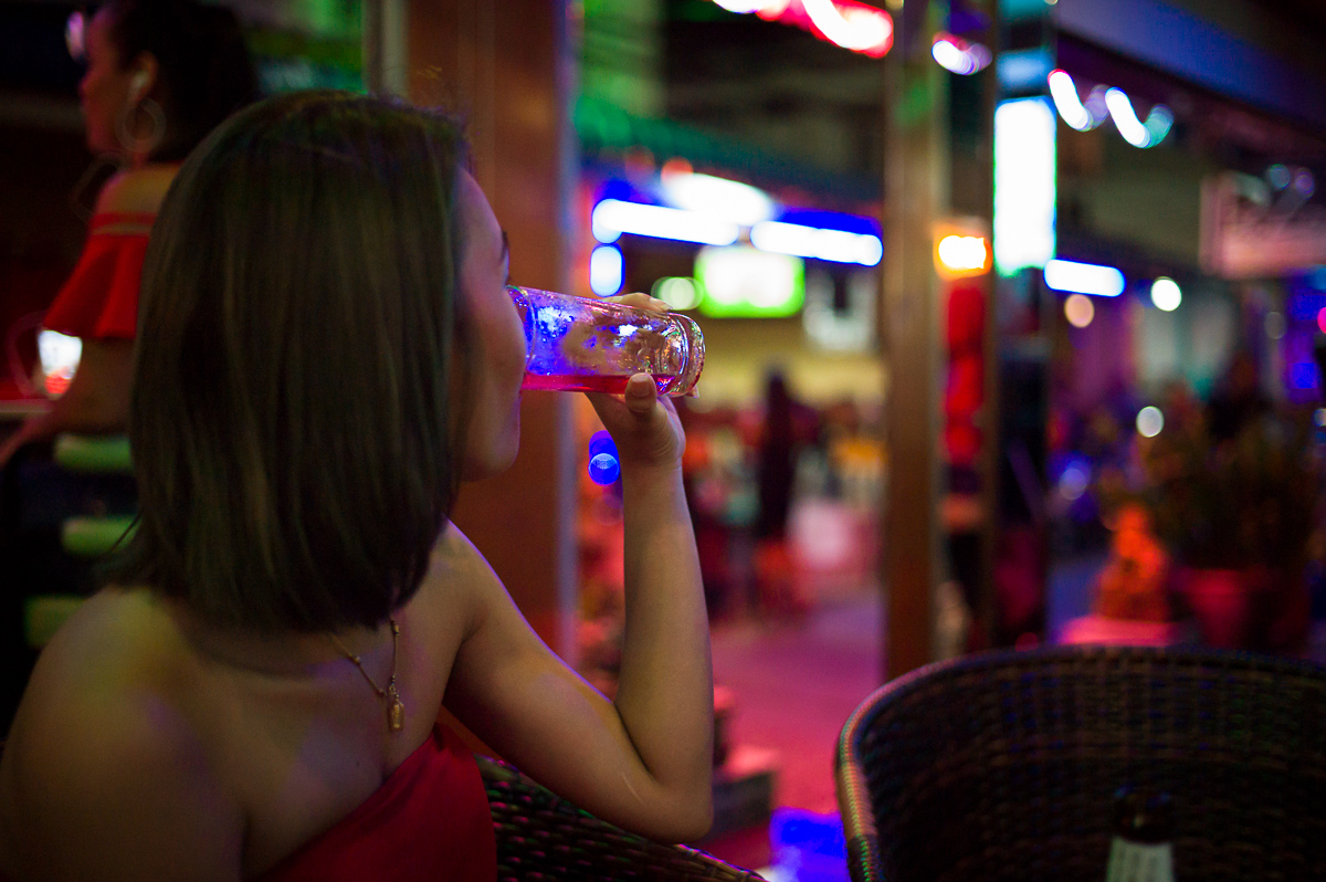 Amazing colors around beer bar area