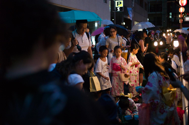 Test your skill and catch goldfish, Azabu Juban Festival, Tokyo