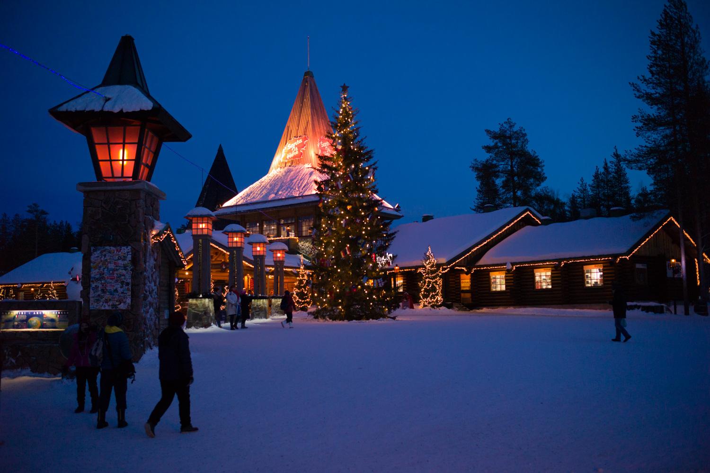 Santa Claus Village, the building behind X'mas tree is Mr. Santa's office