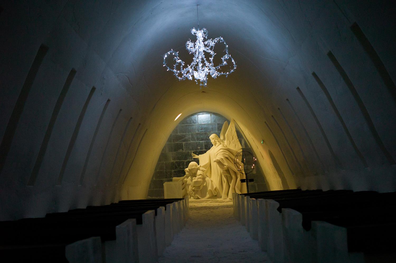 The Ice Chapel is quite impressive, SnowCastle of Kemi