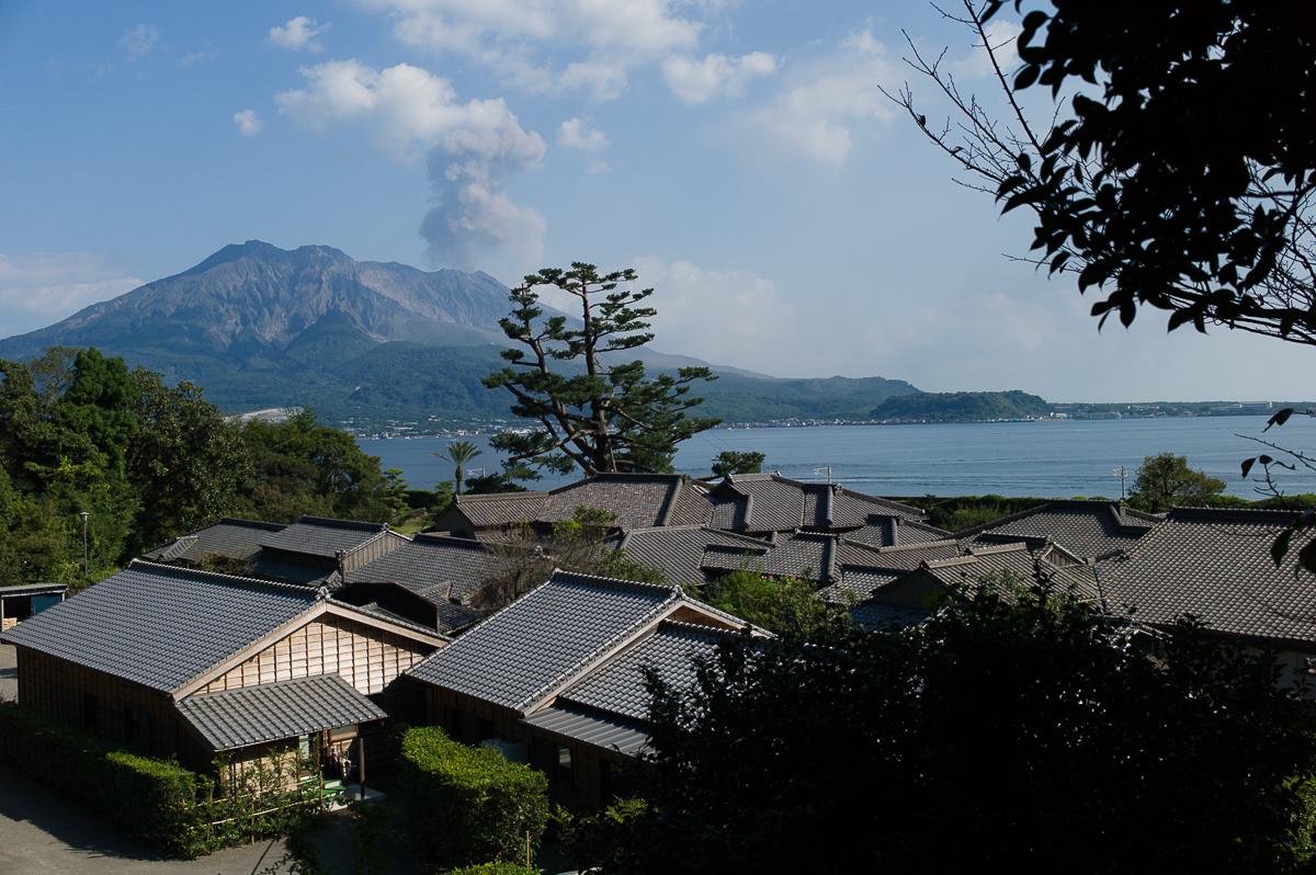 Senganen garden with Sakurajima view