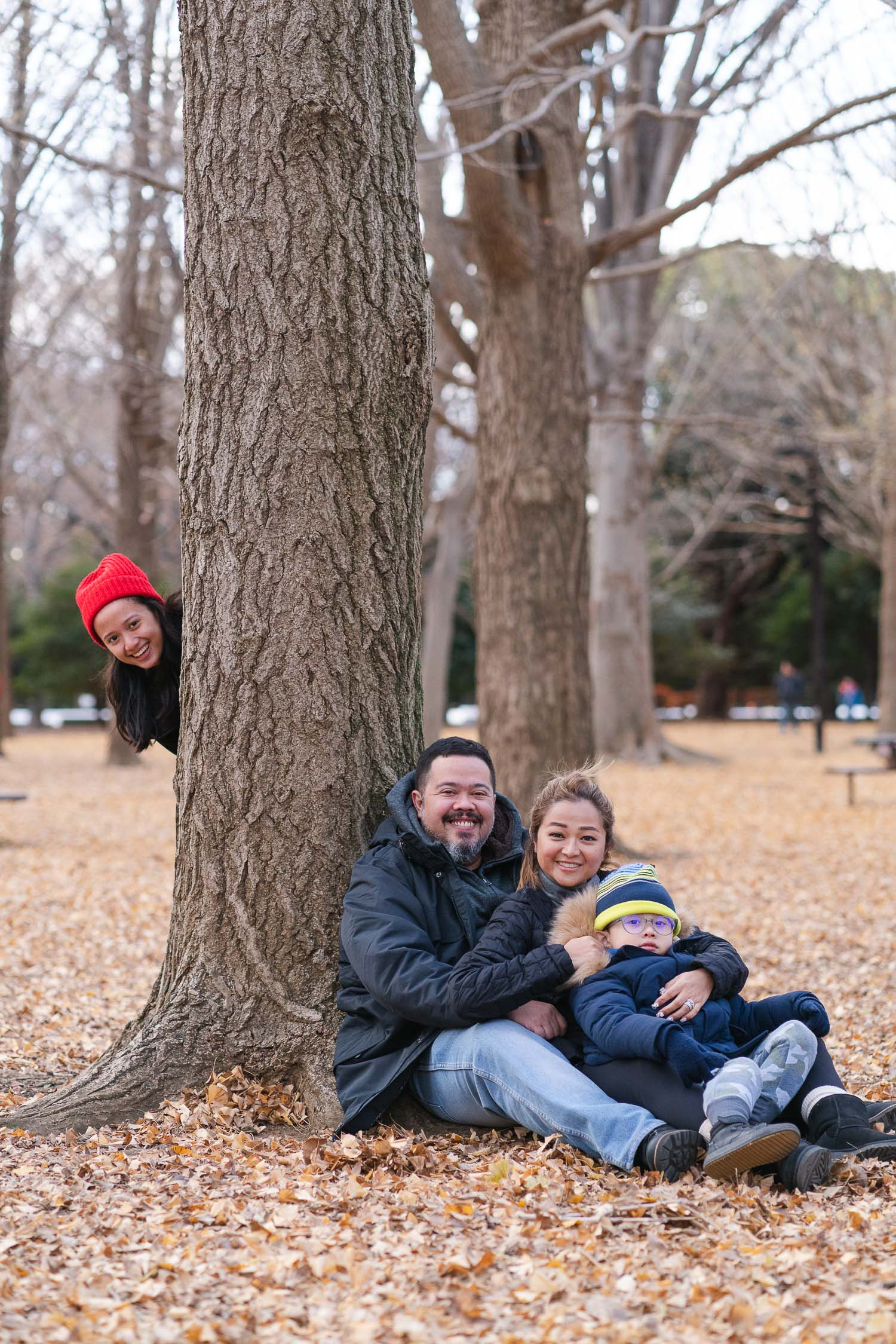 Kristi family escape in Yoyogi park