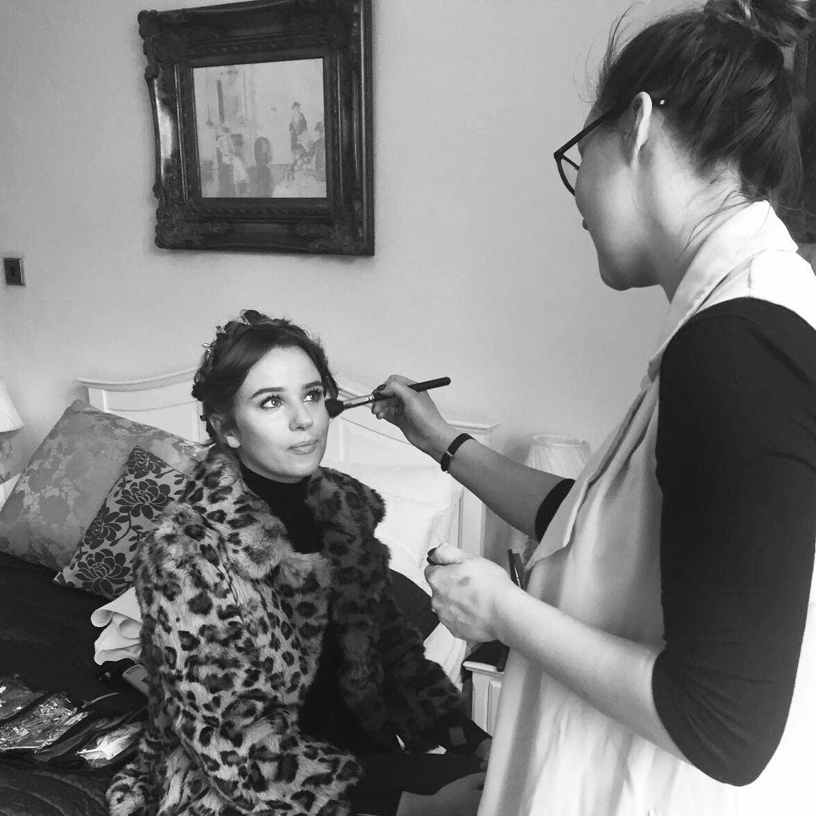 Little sneaky peek behind the scenes, doing touch ups on our gorgeous model Tinna.