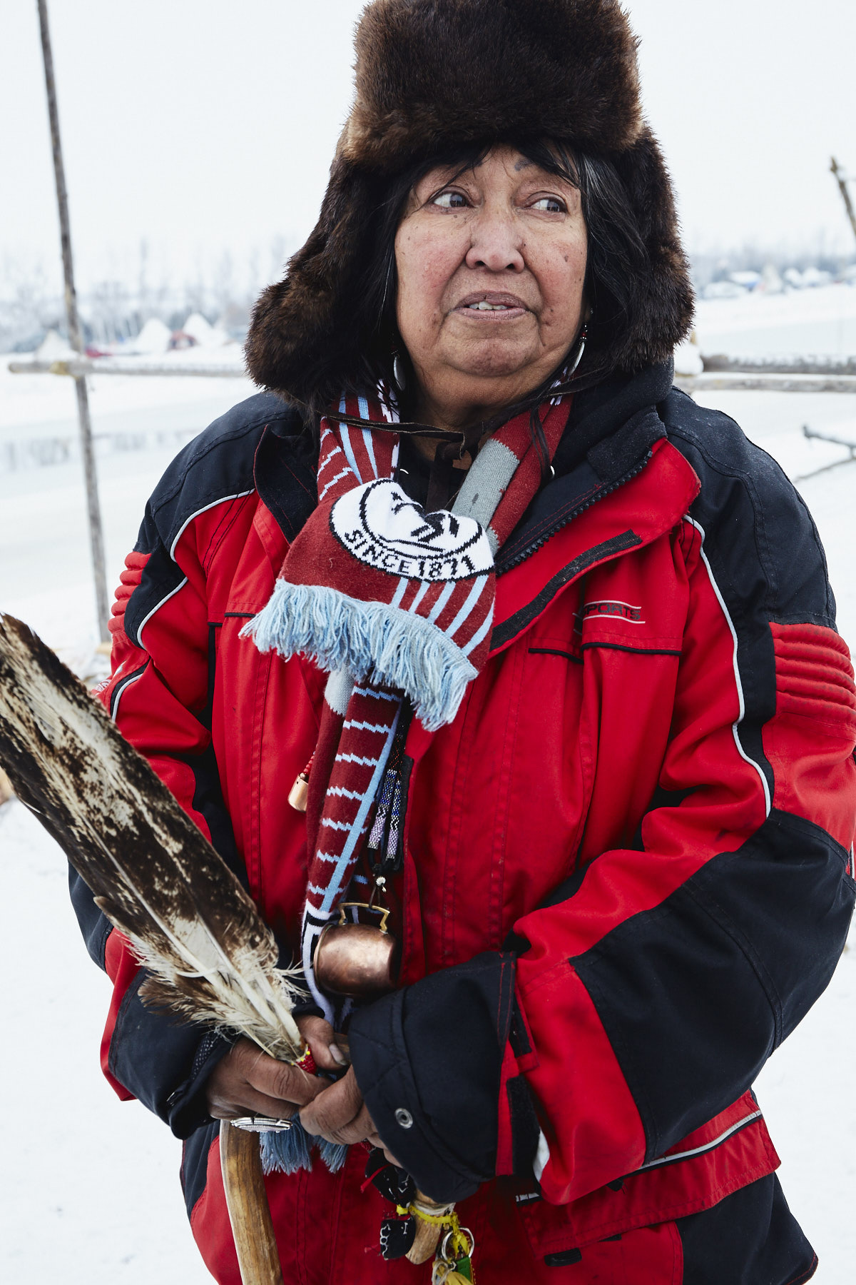 Beatrice Menasekwe Jackson from the Tsimshian tribe in Ketchikan, Alaska, now living in Michigan