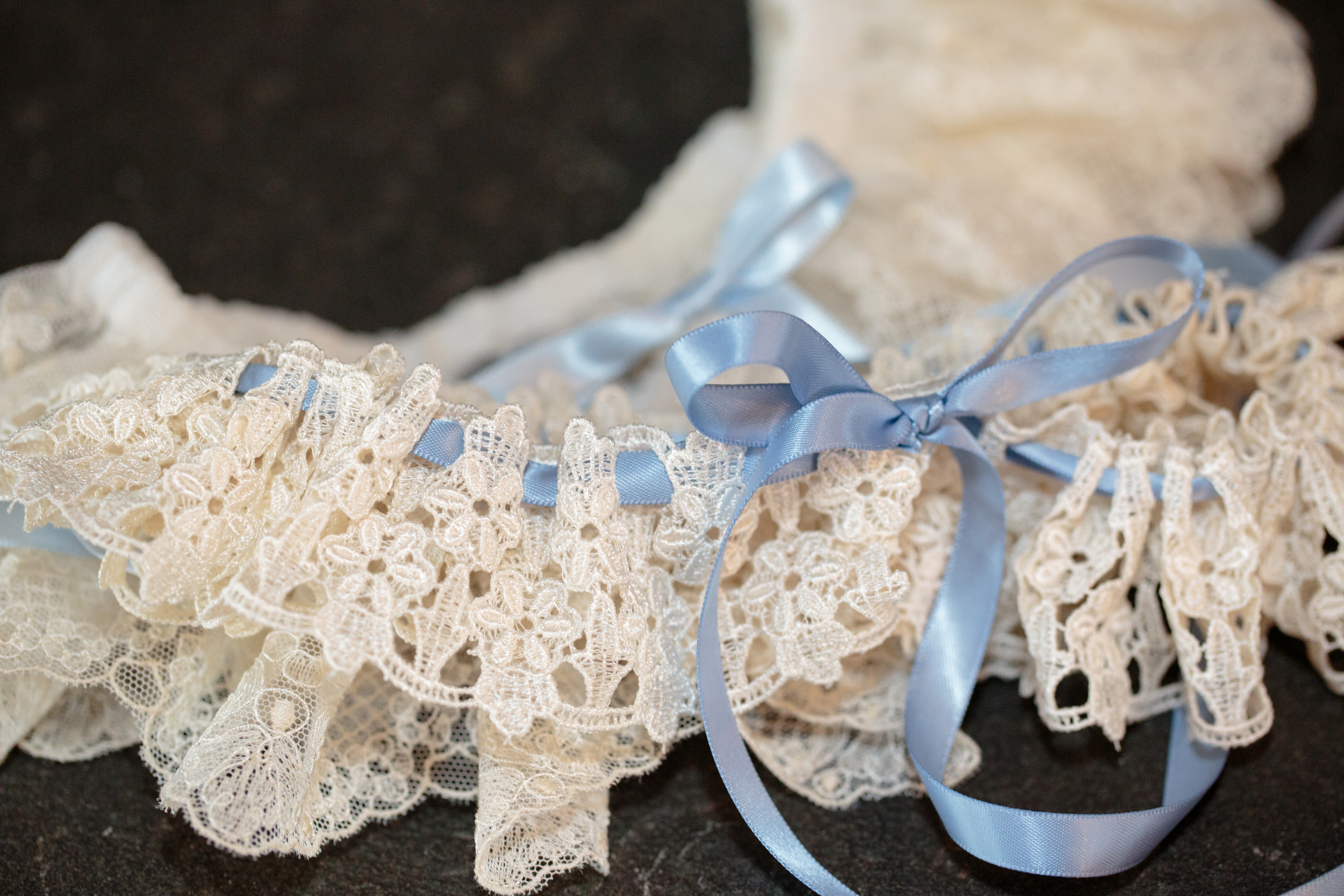 We (Still) Do: Liberty Mountain Resort Wedding Vow Renewal | Shotgunning for Love Letters | This garter was handmade by my aunt
