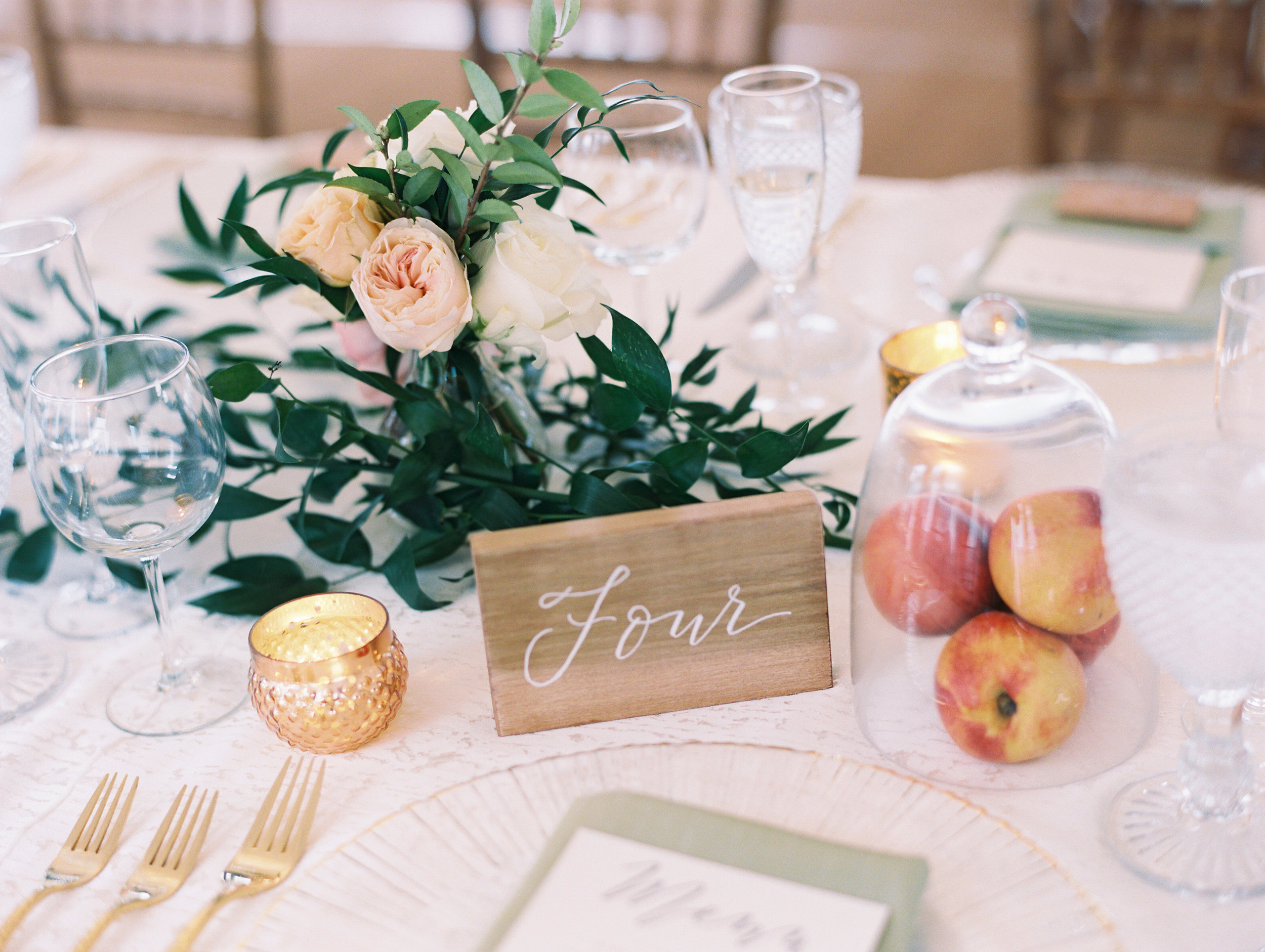 Gibson Island, MD Wedding | Abby Jiu Photography, Shotgunning for Love Letters Calligraphy - Wood Place Cards and Wood Table Numbers