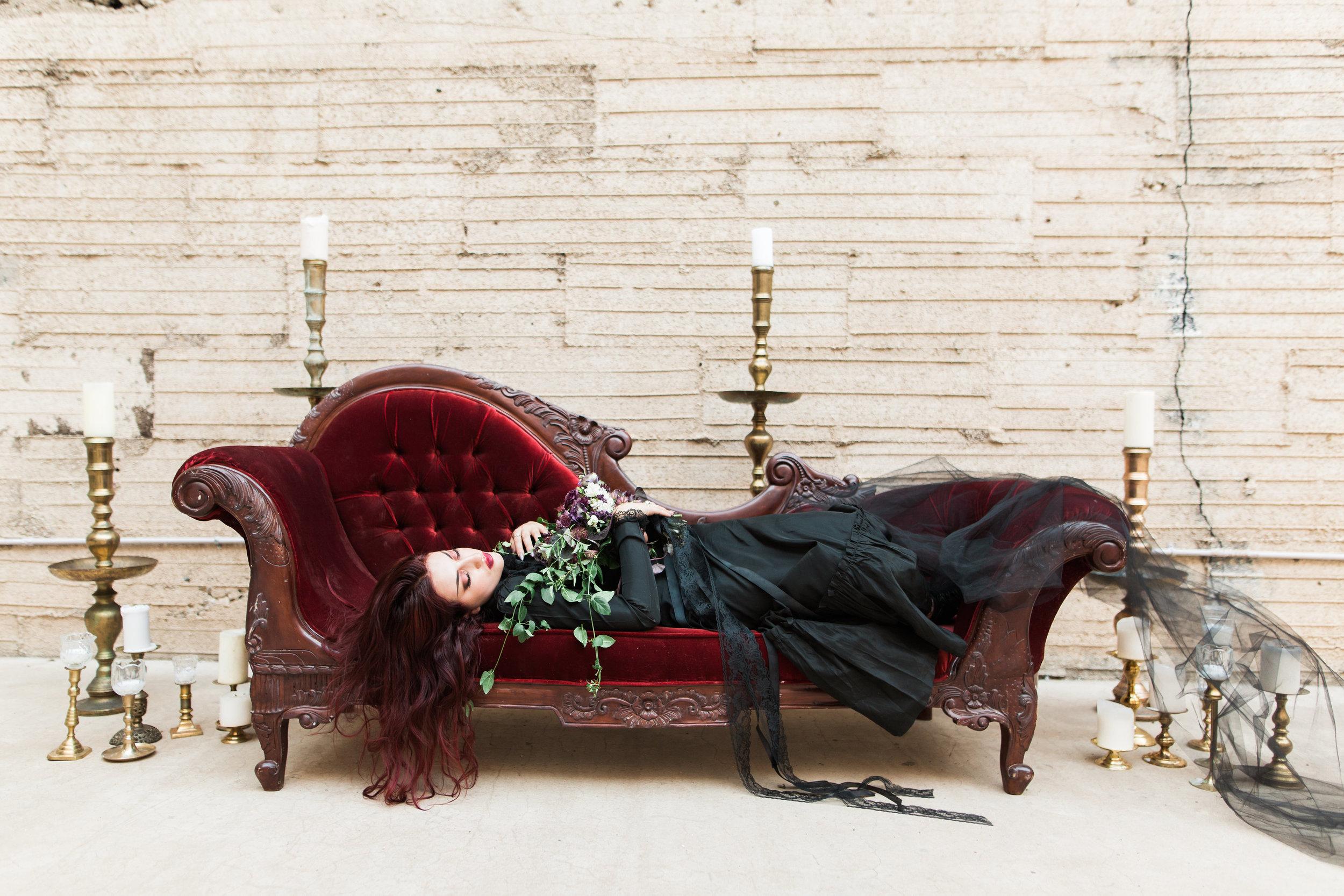 Haunting Vampy Halloween Bride and Wedding Editorial
