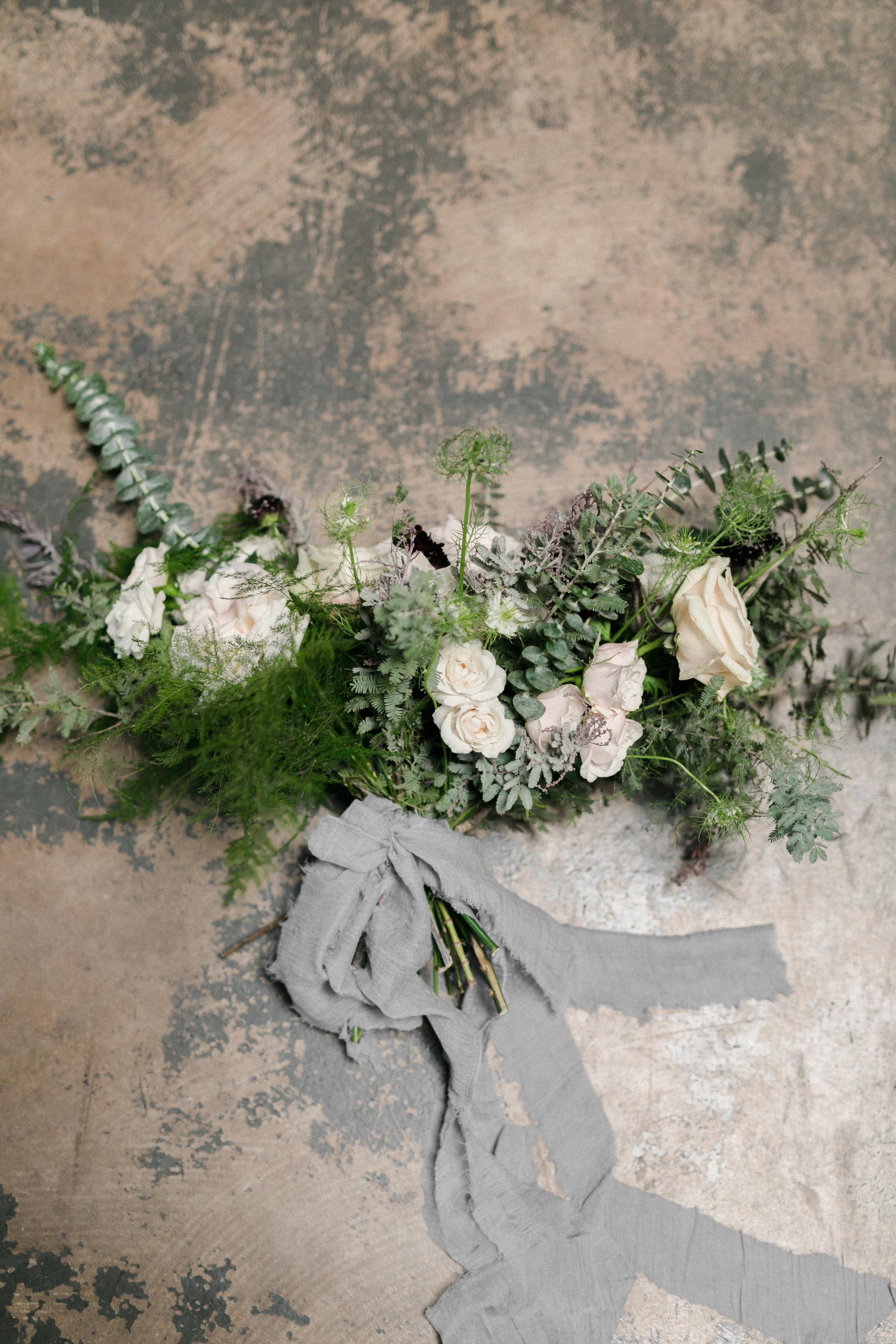 Wispy Bones Skeleton Fine Art Halloween Wedding Editorial in Dallas, Texas