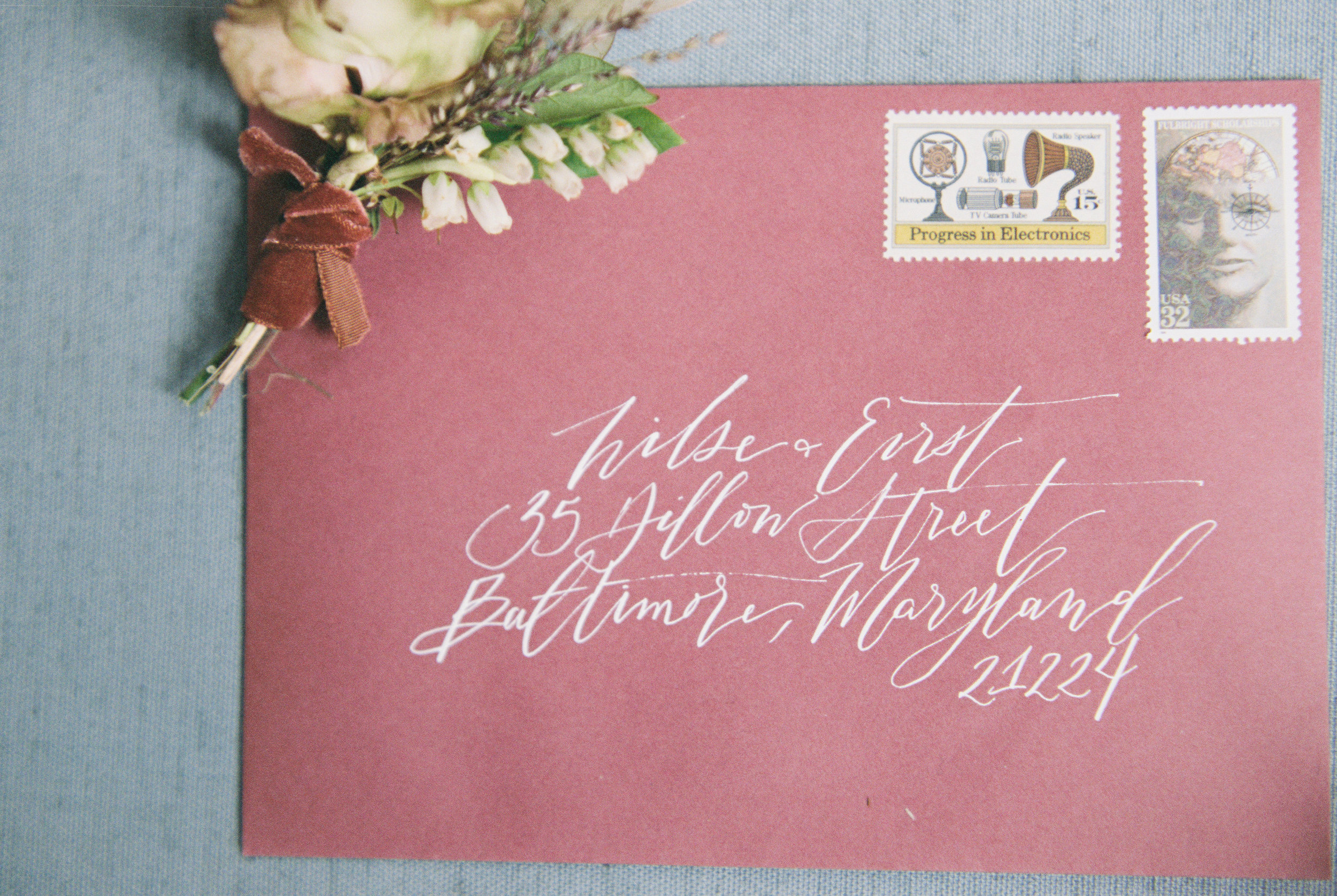 Holiday and Christmas Card Envelope Calligraphy | Shotgunning for Love Letters