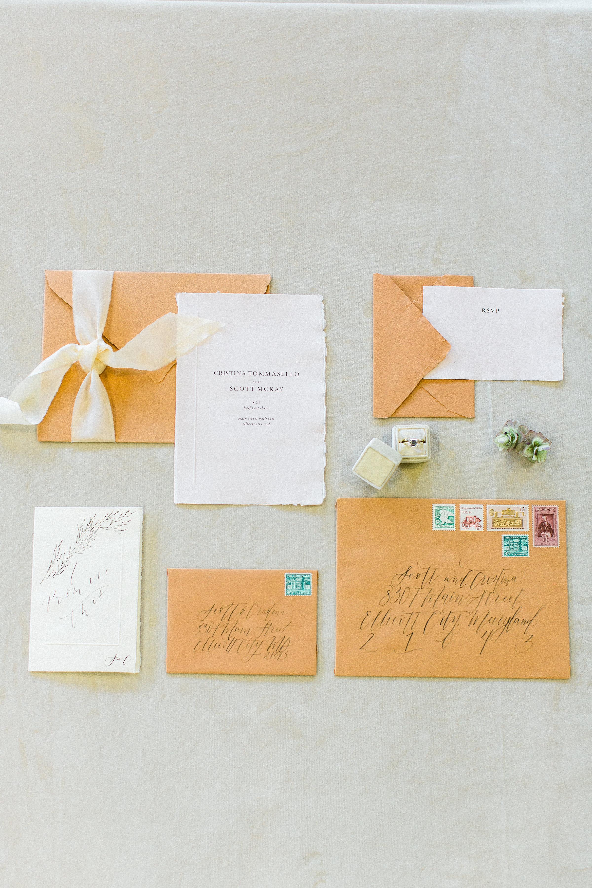 Minimal Wedding Invitation On Handmade Paper | Shotgunning for Love Letters