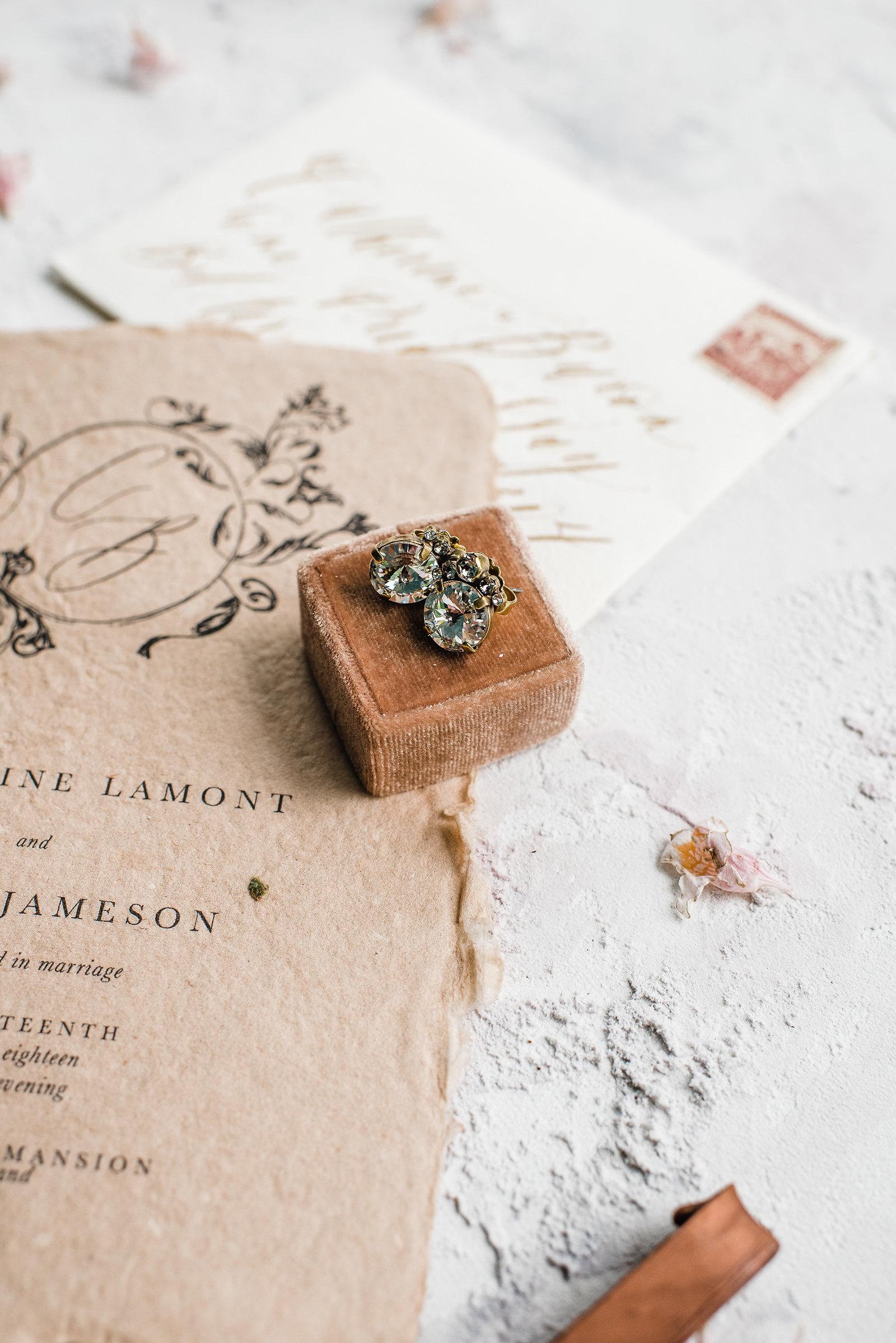 Semi Custom Calligraphy Wedding Invitations | Shotgunning for Love Letters, Baltimore, MD