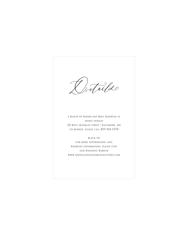 Society Details Card | Shotgunning for Love Letters