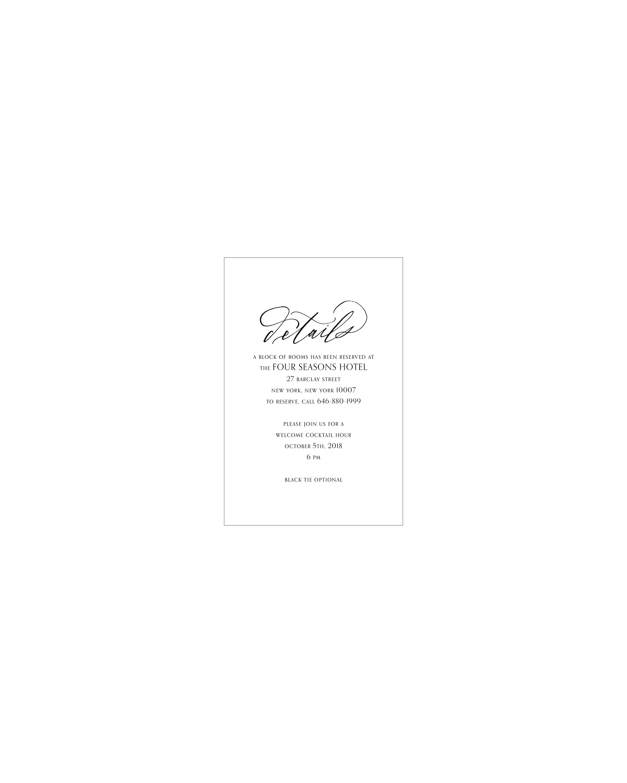Tonic Details Card | Shotgunning for Love Letters
