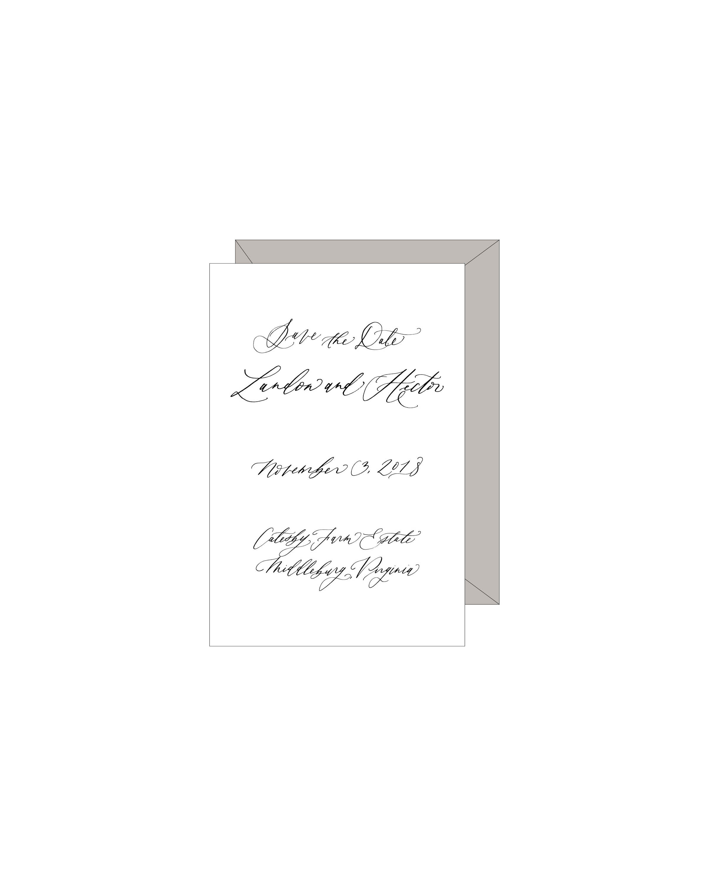 Semi Custom Save the Date | Shotgunning for Love Letters