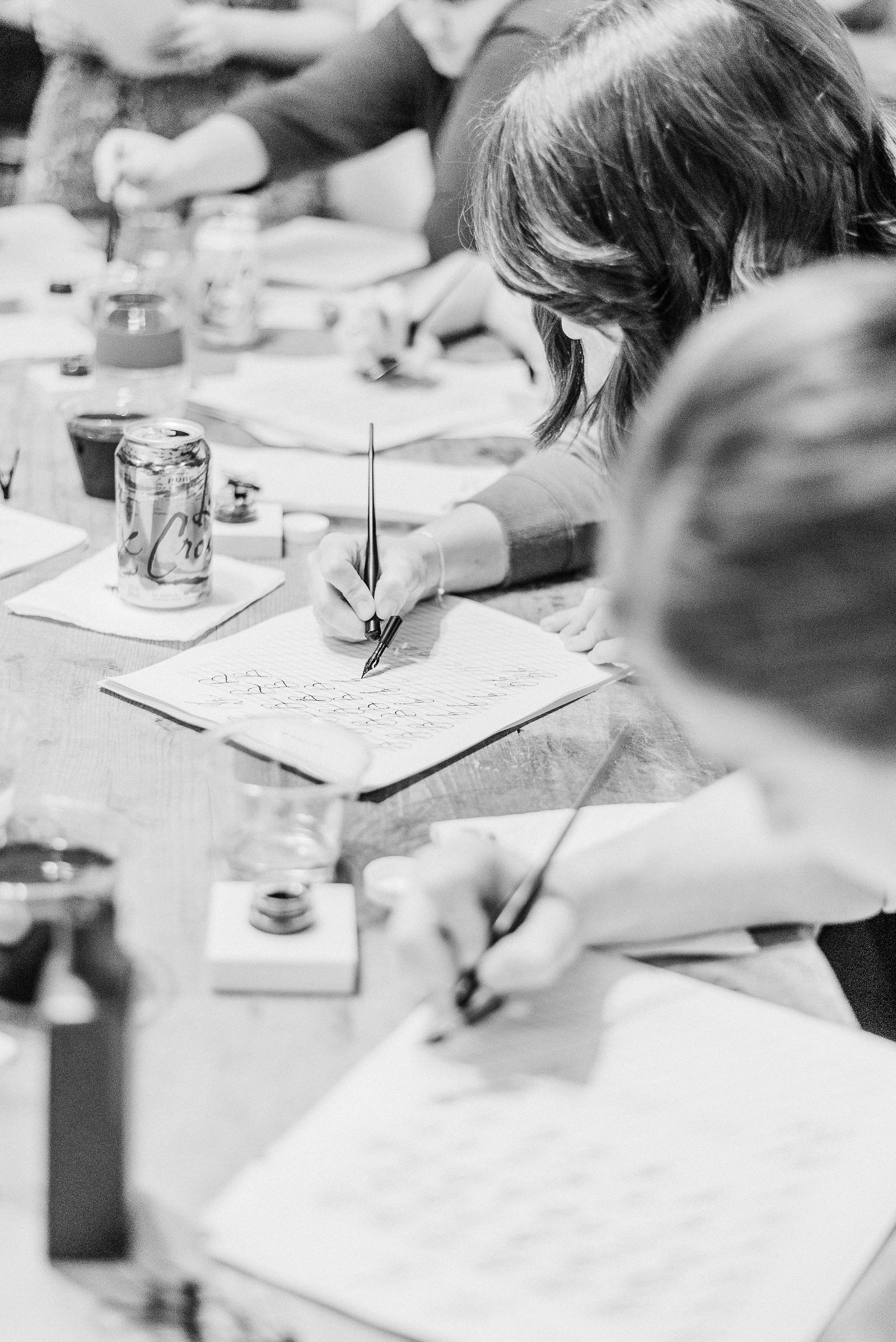 Introduction to Modern Calligraphy Workshop at B Willow in Baltimore, Maryland | Shotgunning for Love Letters
