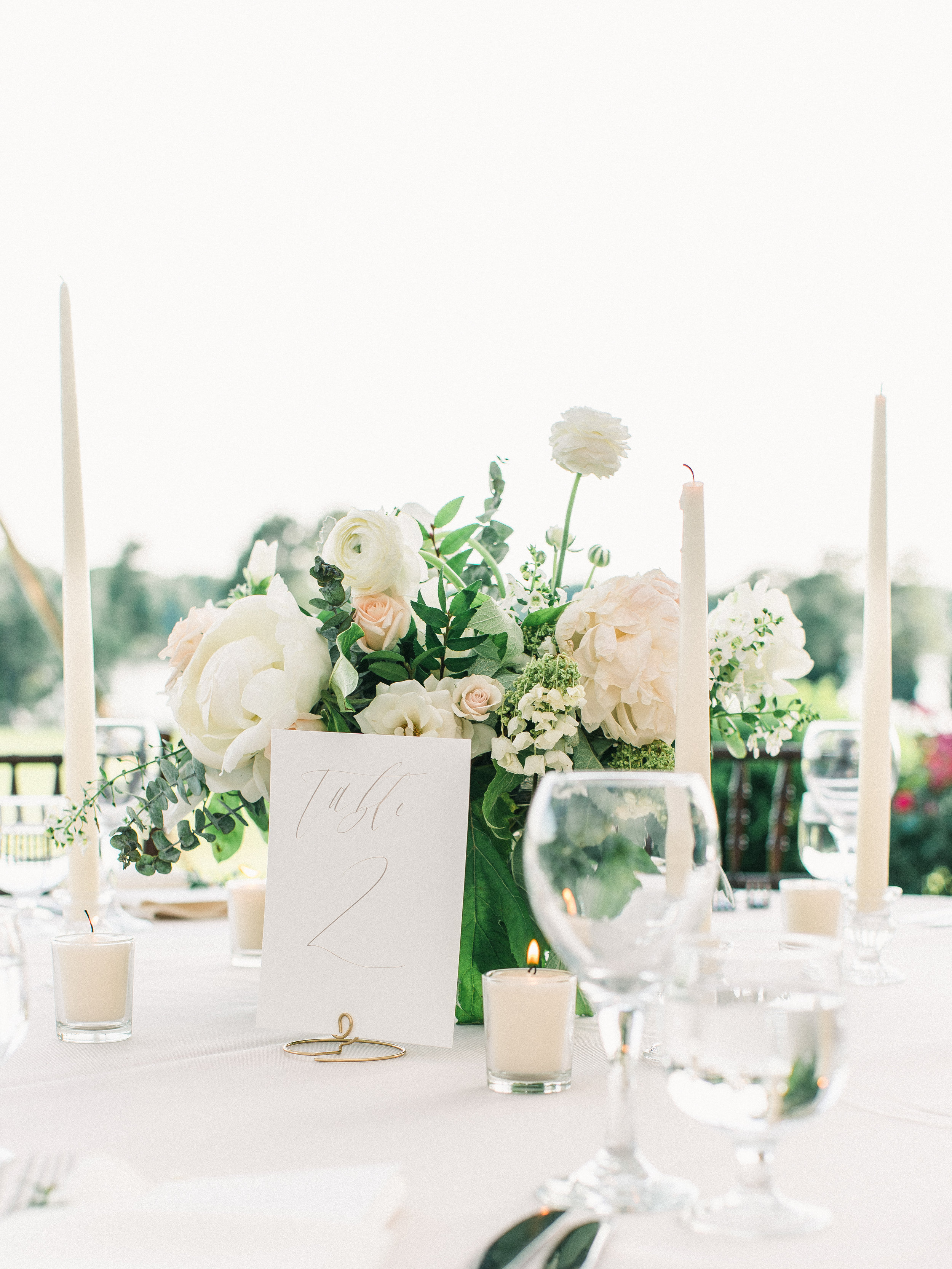 Wedding Table Numbers   Shotgunning for Love Letters