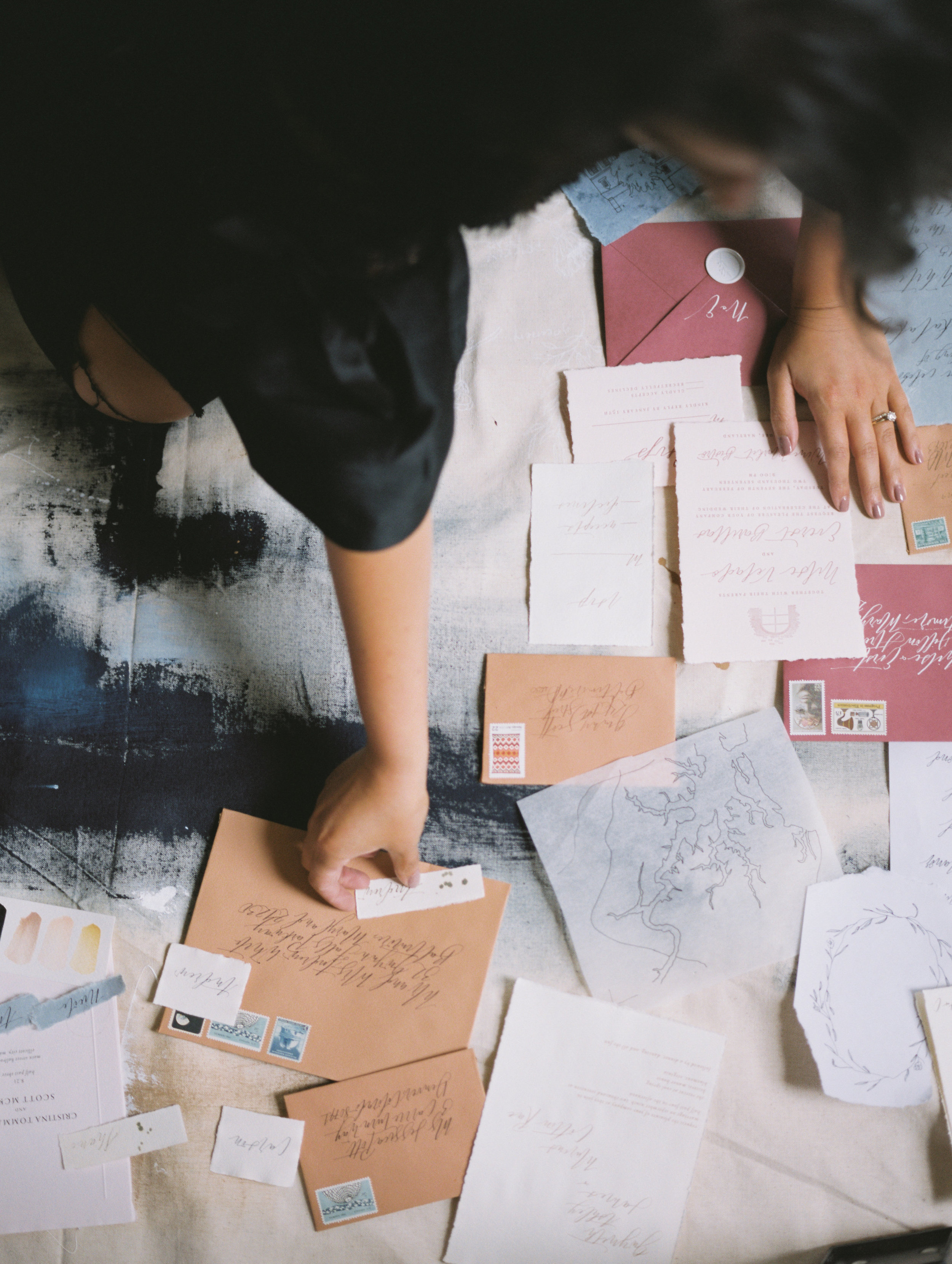 Invitation Stuffing and Assembly | Shotgunning for Love Letters