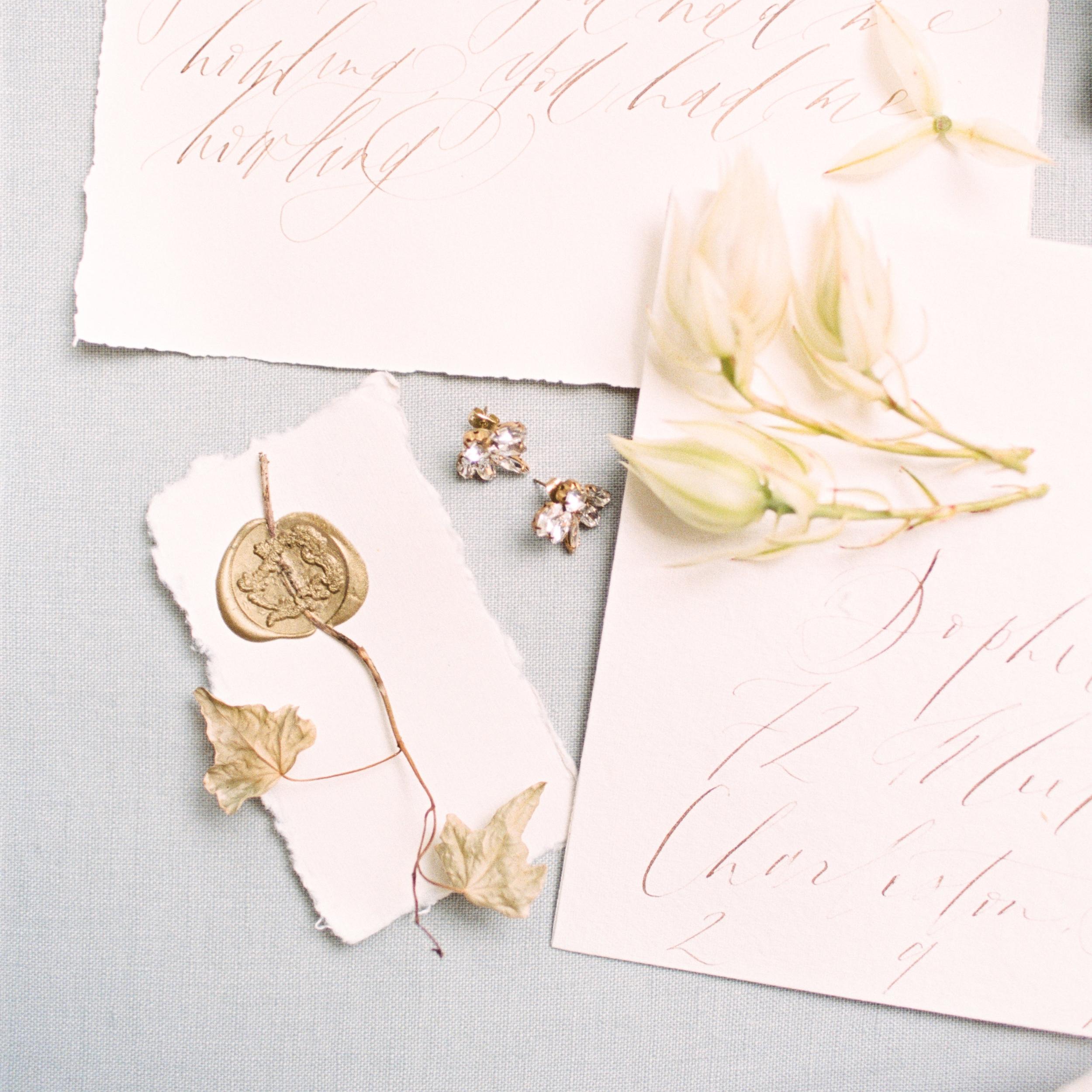 Wax Seal - Semi Custom Calligraphy Wedding Invitations | Shotgunning for Love Letters, Baltimore, MD