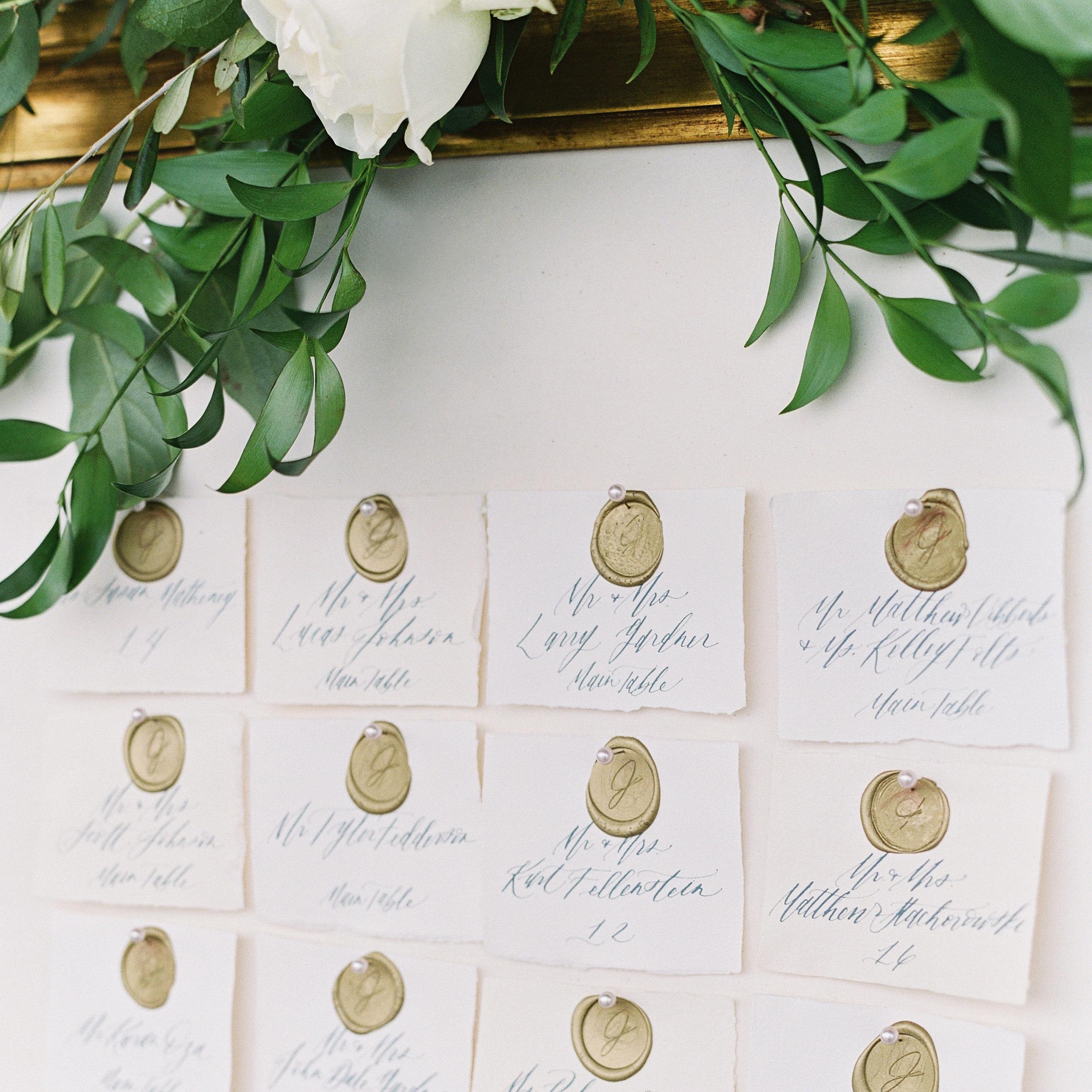 Wax Seal Escort Cards | Shotgunning for Love, Image by Lauren Fair