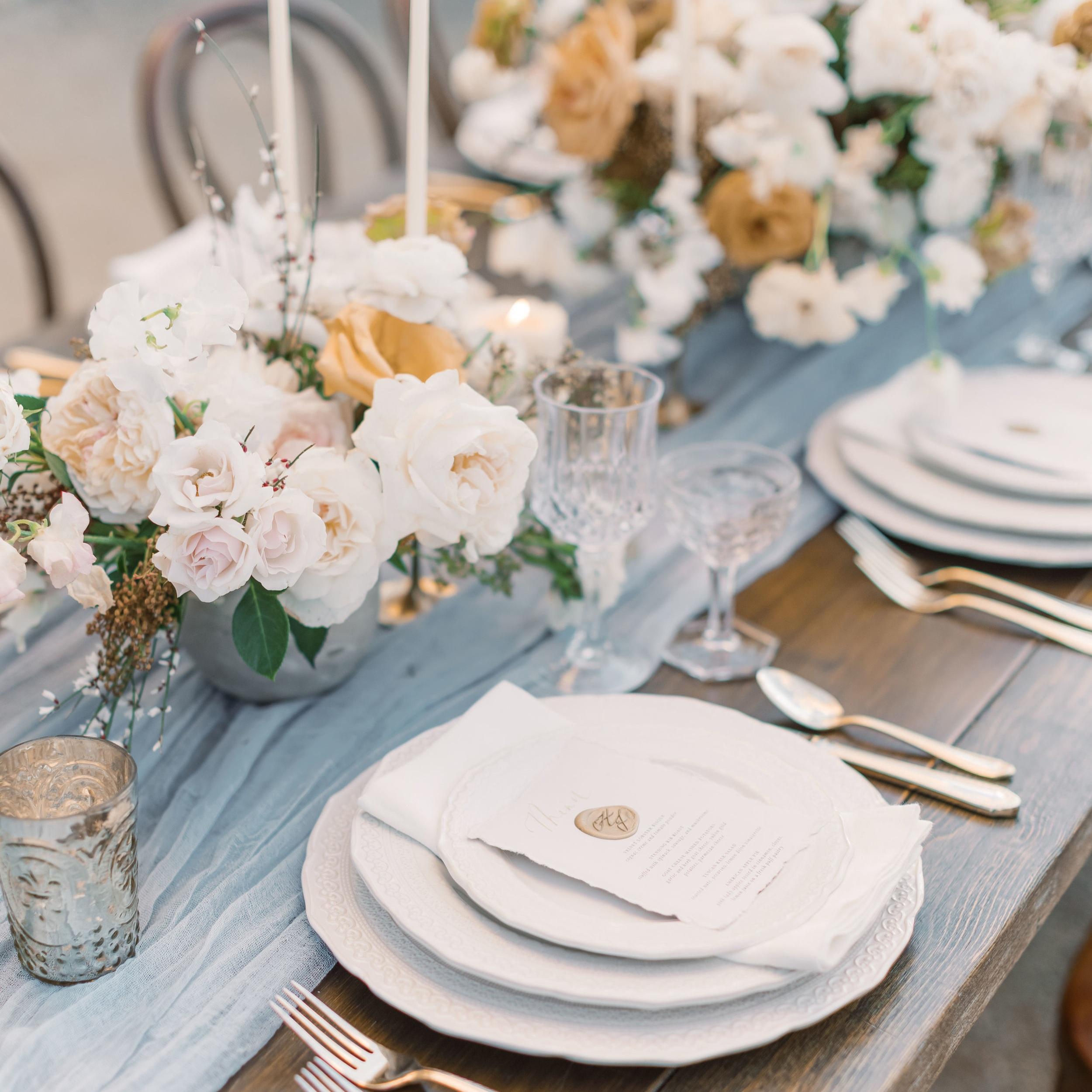 Wedding Menus | Shotgunning for Love Letters
