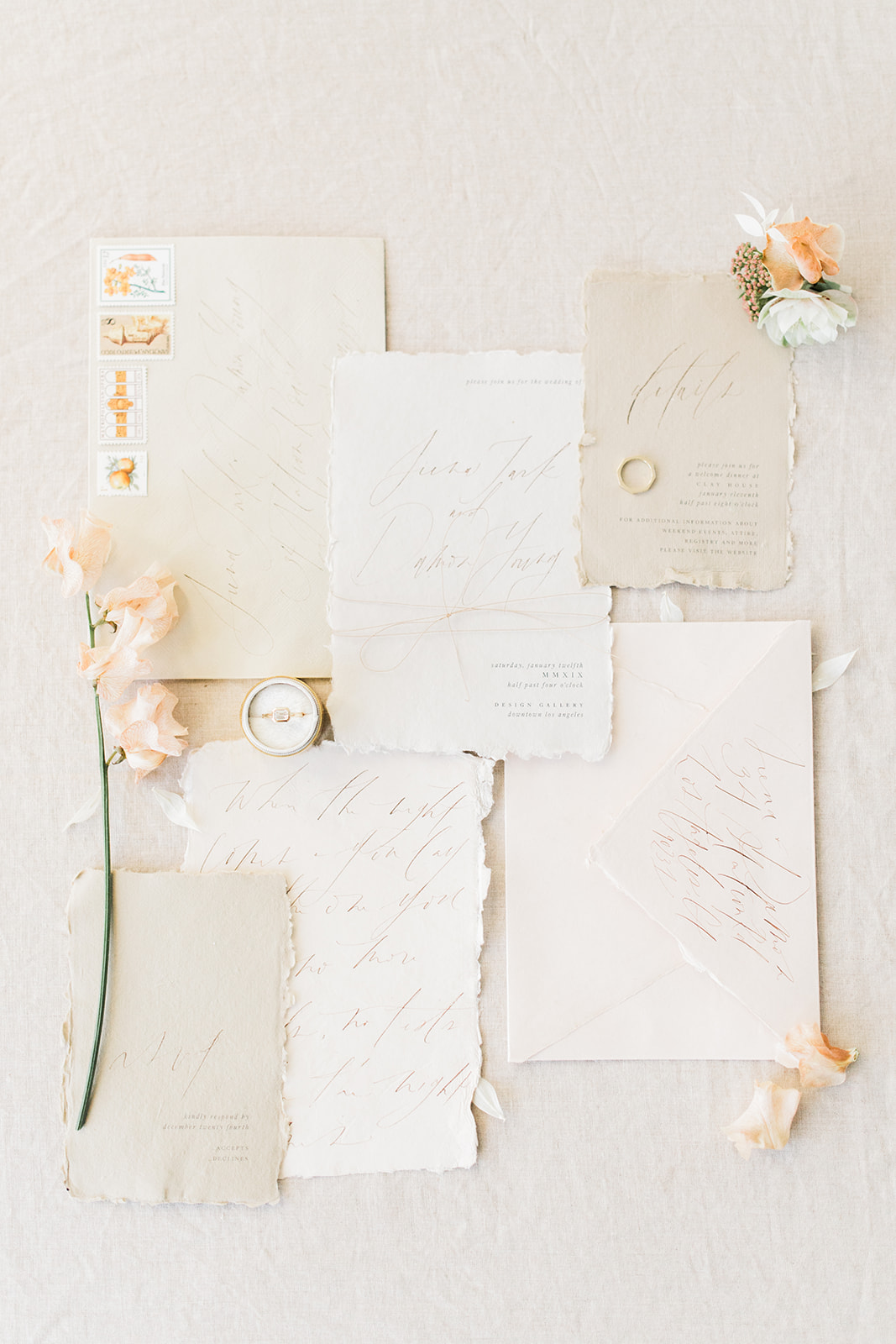 MUSE Organic Wedding Invitations with Calligraphy | Shotgunning for Love