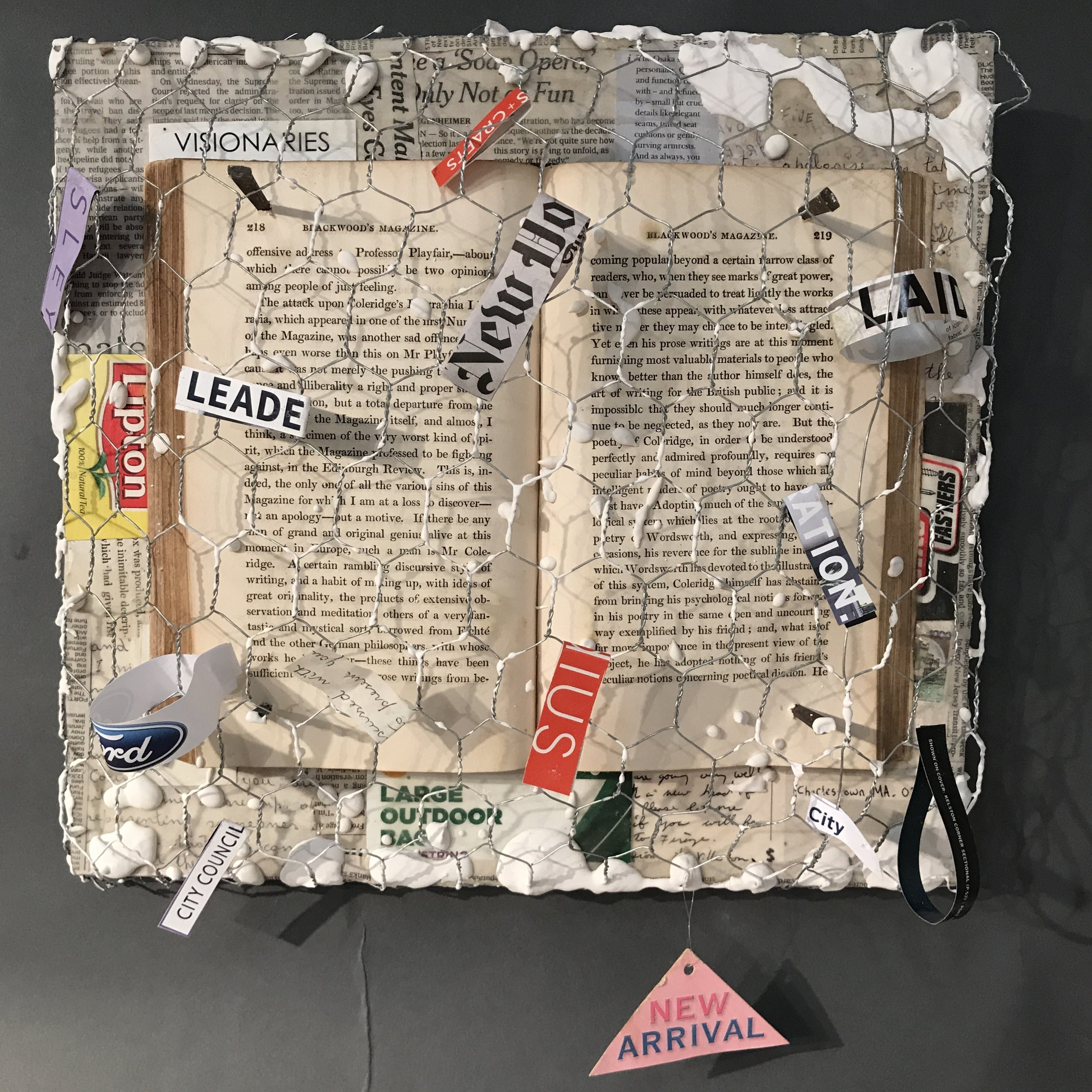 Art of the Word  Mixed Media 12 x 13.25 in./ 30.4 x 33.6 cm