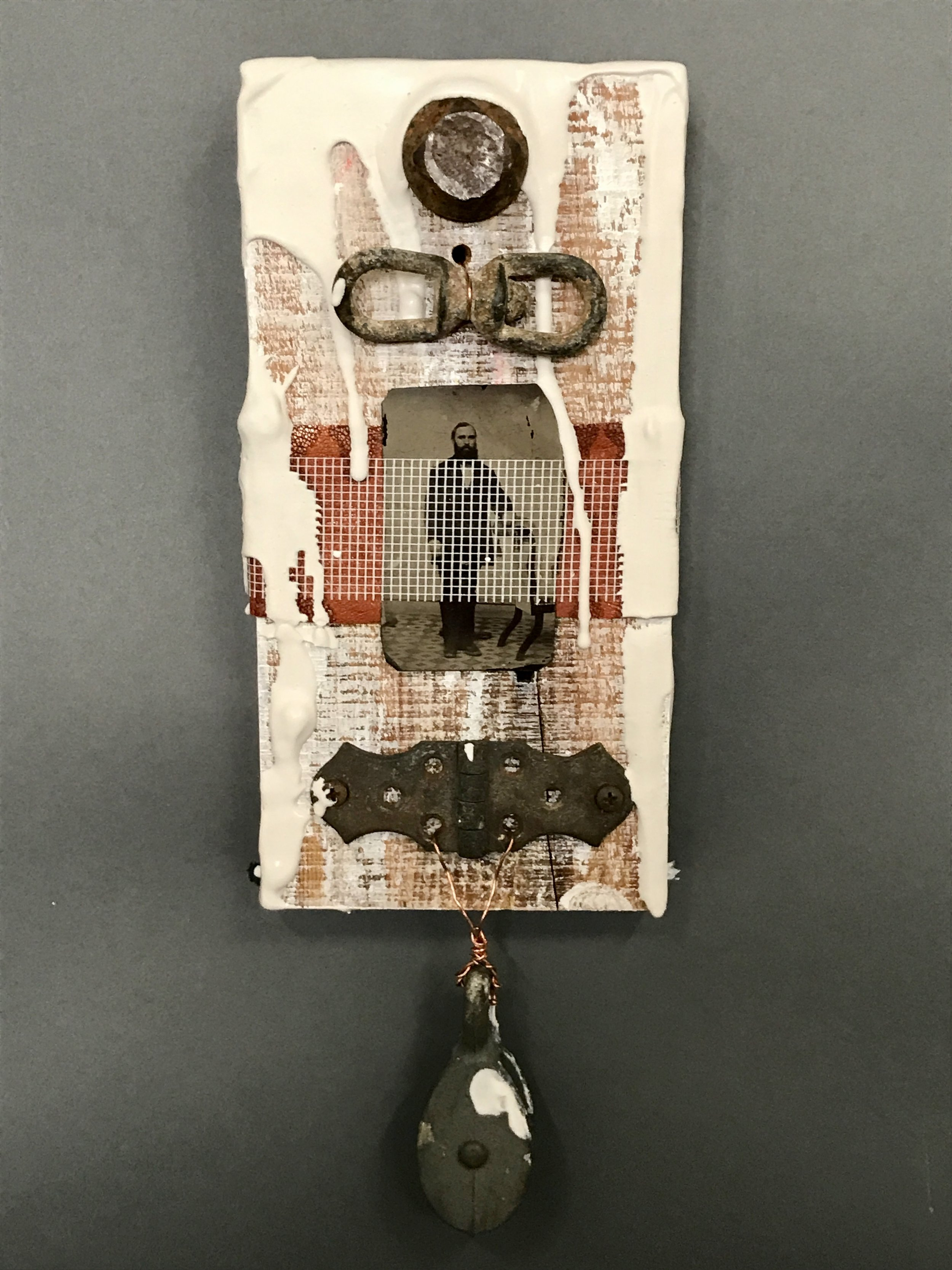 Henry  Mixed media 15.25 x5.75 in/ 38.7 x 14.6 cm