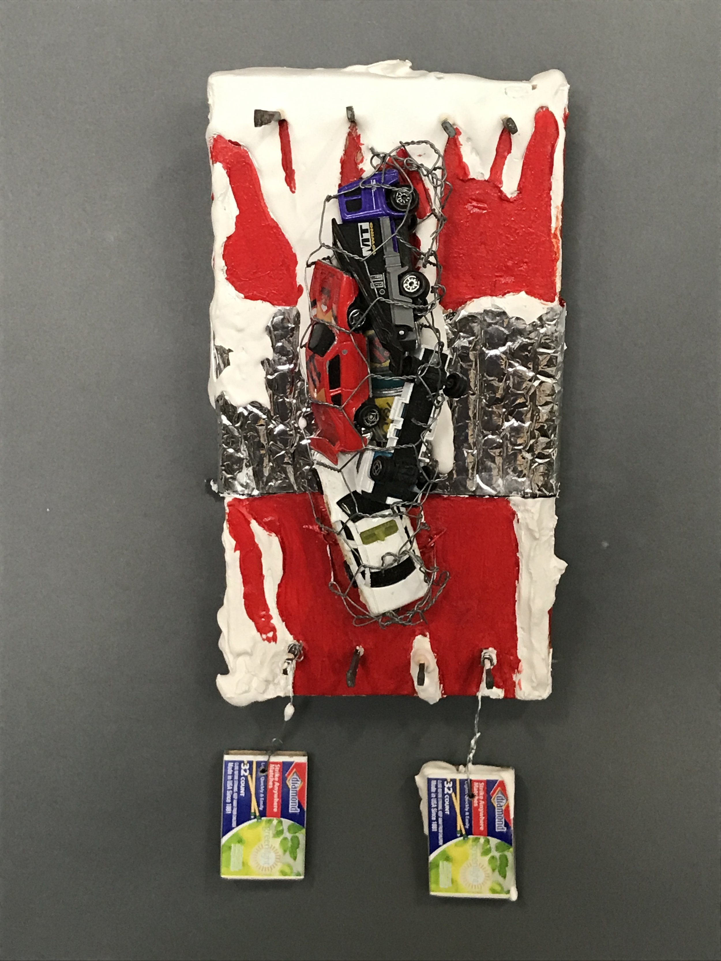 Match Anyone?  Mixed media 13.25 x 5.5 in. / 33.6 x 13.9 cm.