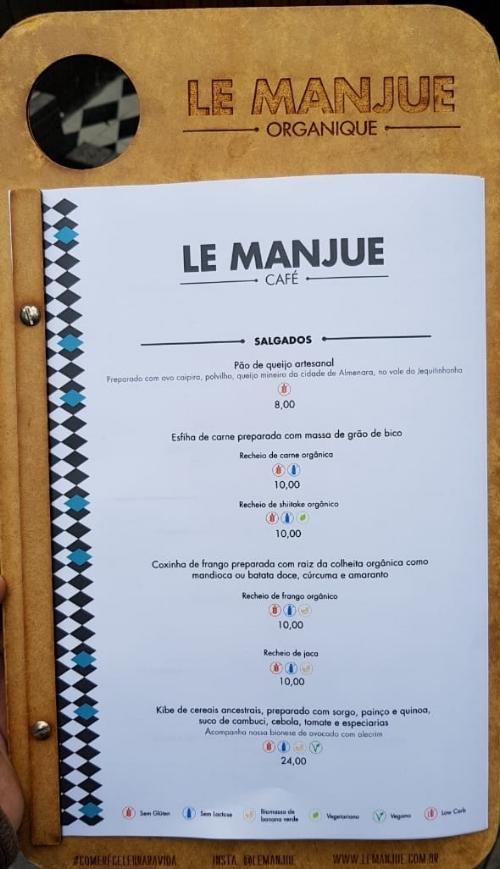 Nova diagramação e layout para cardápio Le Manjue Café