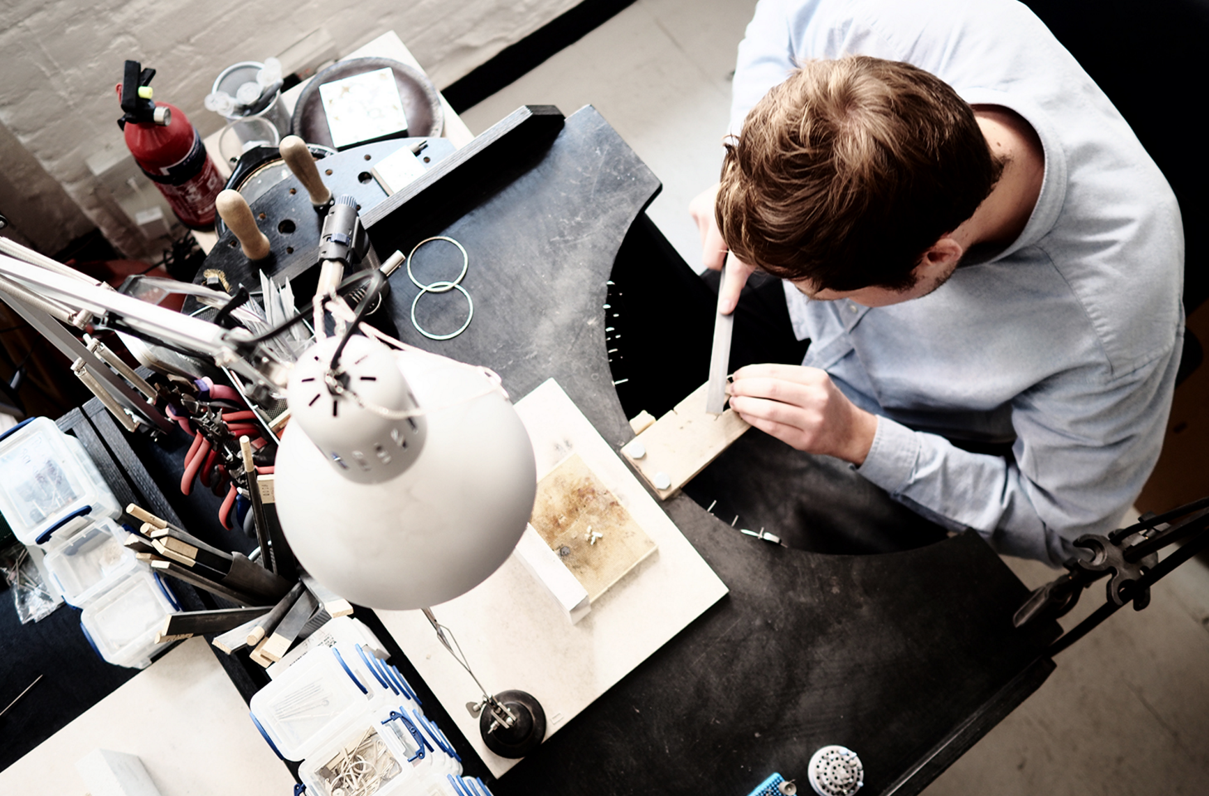Matthew Calvin at work in his studio