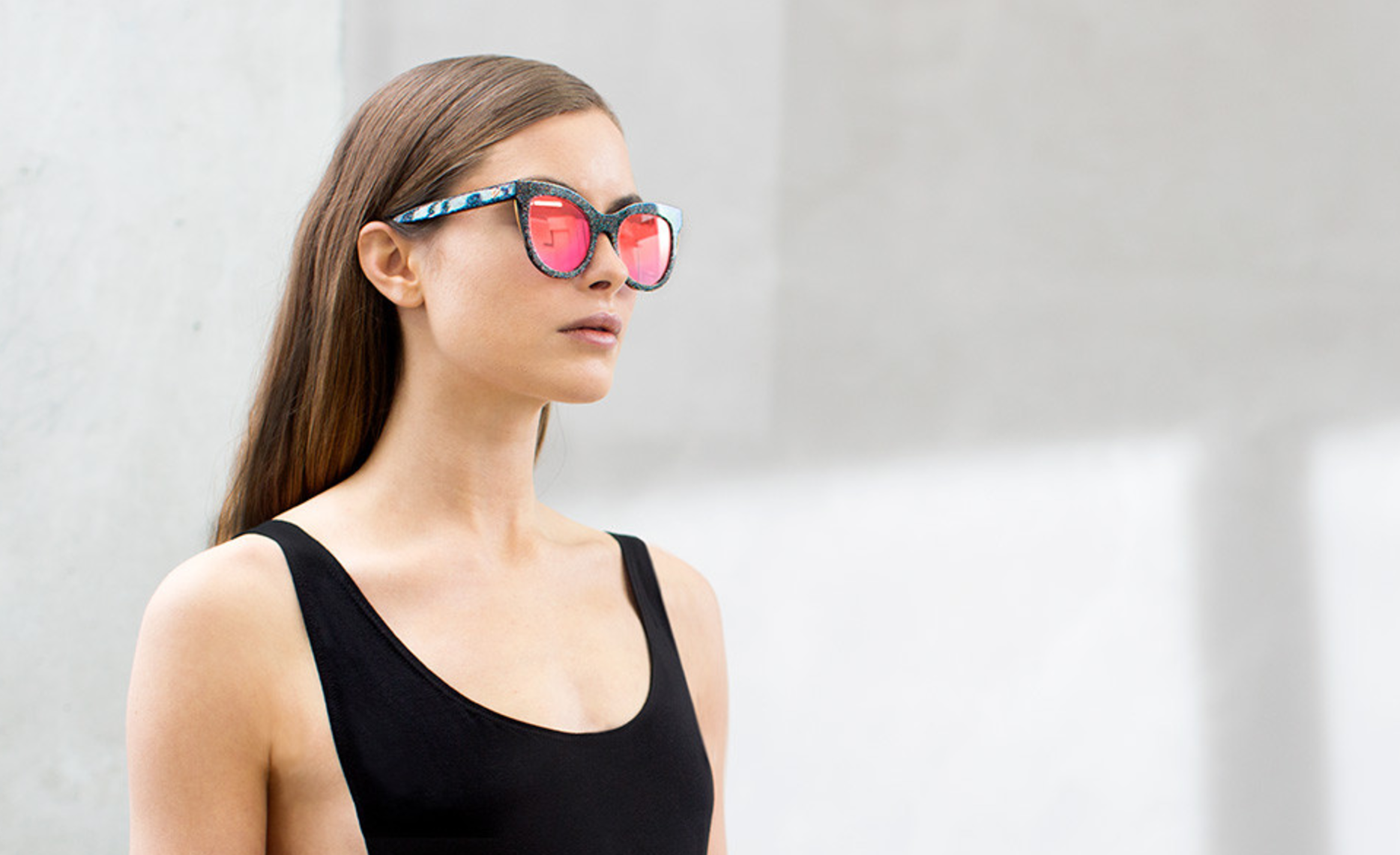 pink mirror sunglasses from Vow London